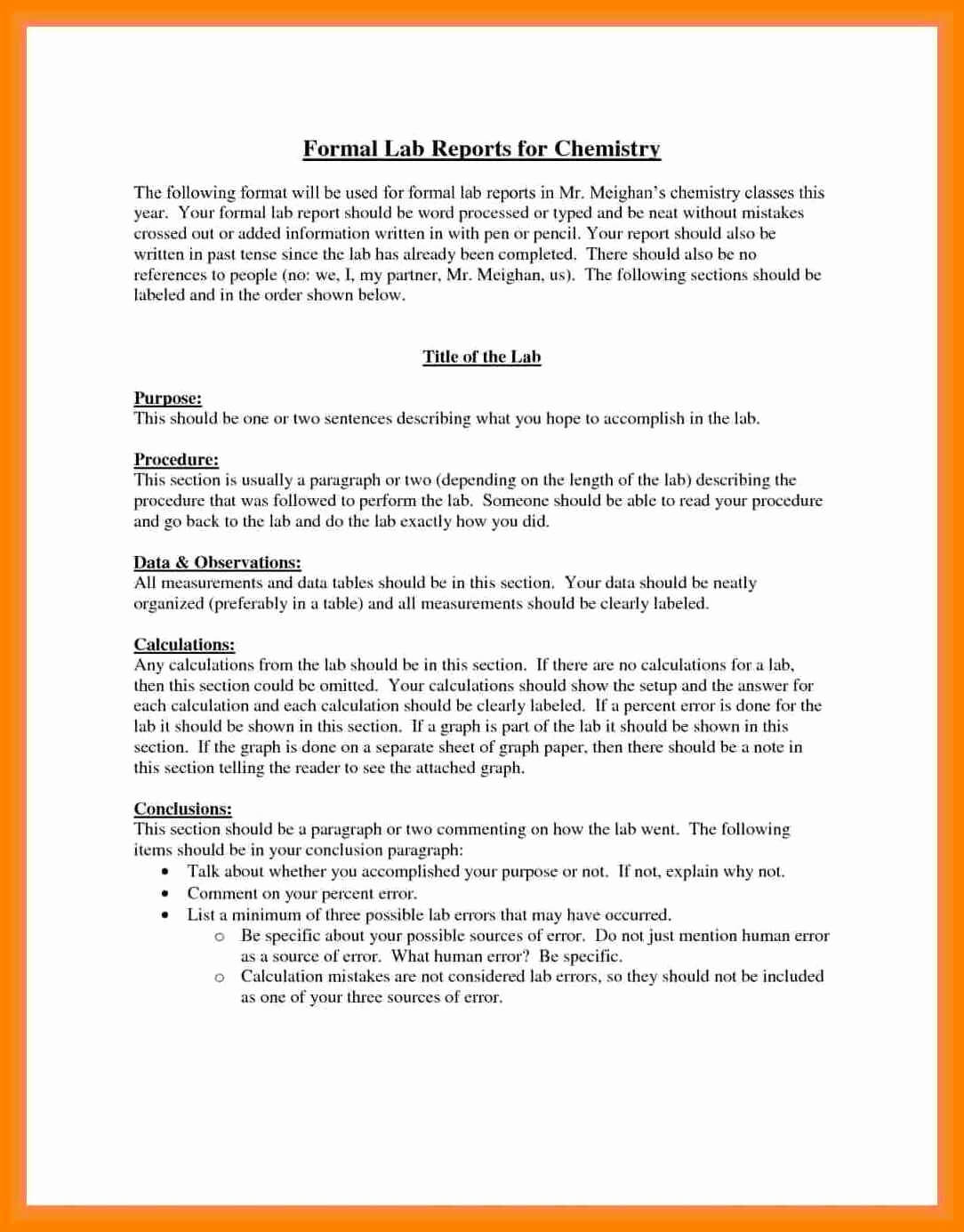 003 Formal Lab Report Example Best Write Up Template Of Pertaining To Formal Lab Report Template