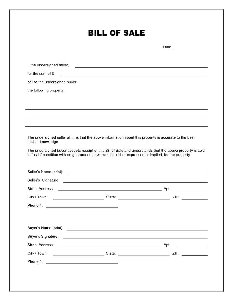 003 Used Car Bill Of Sale Word Template Imposing Ideas Motor Within Car Bill Of Sale Word Template