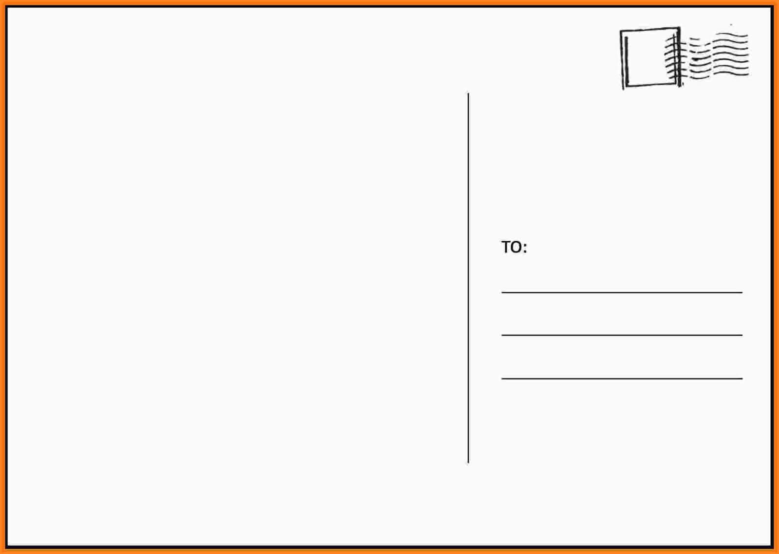 004 Free2Bprintable2Bpostcard2Btemplates2Bfree Free Postcard Intended For Free Blank Postcard Template For Word
