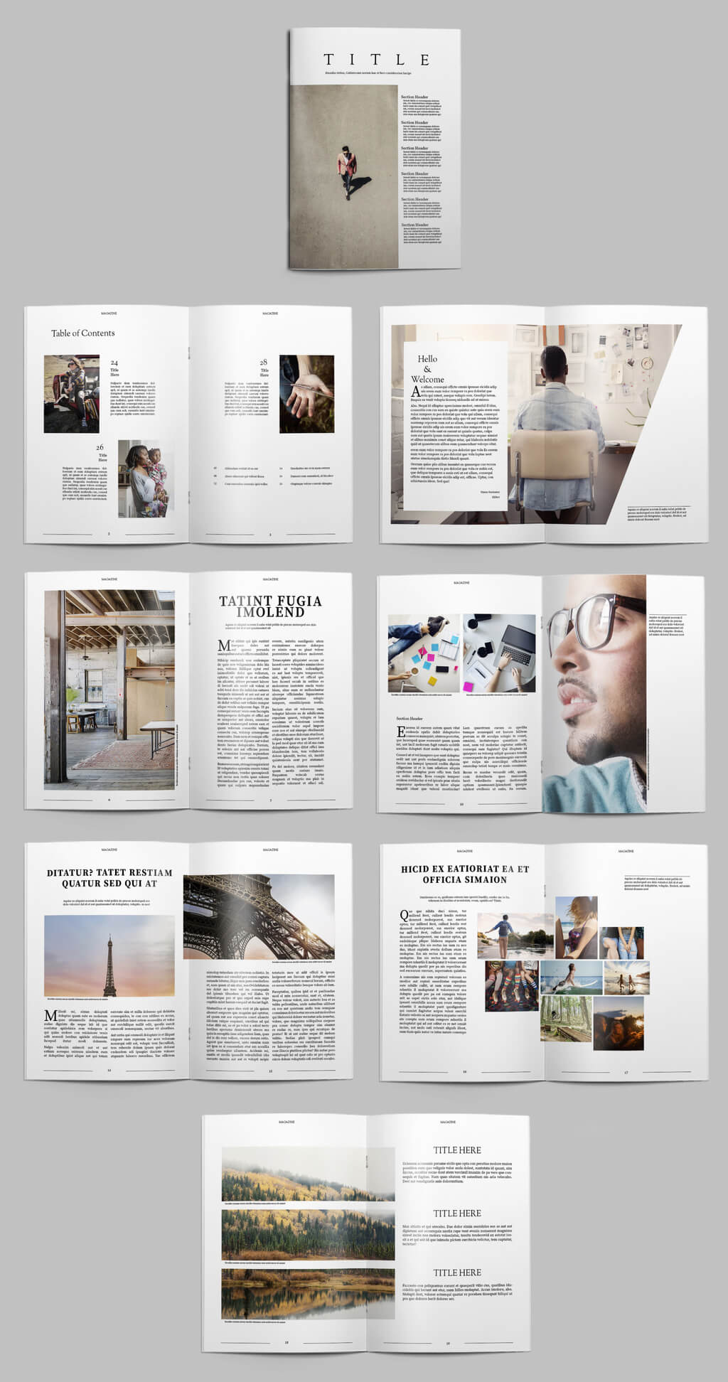 004 Image6 Free Magazine Layout Templates For Microsoft Word Intended For Magazine Template For Microsoft Word