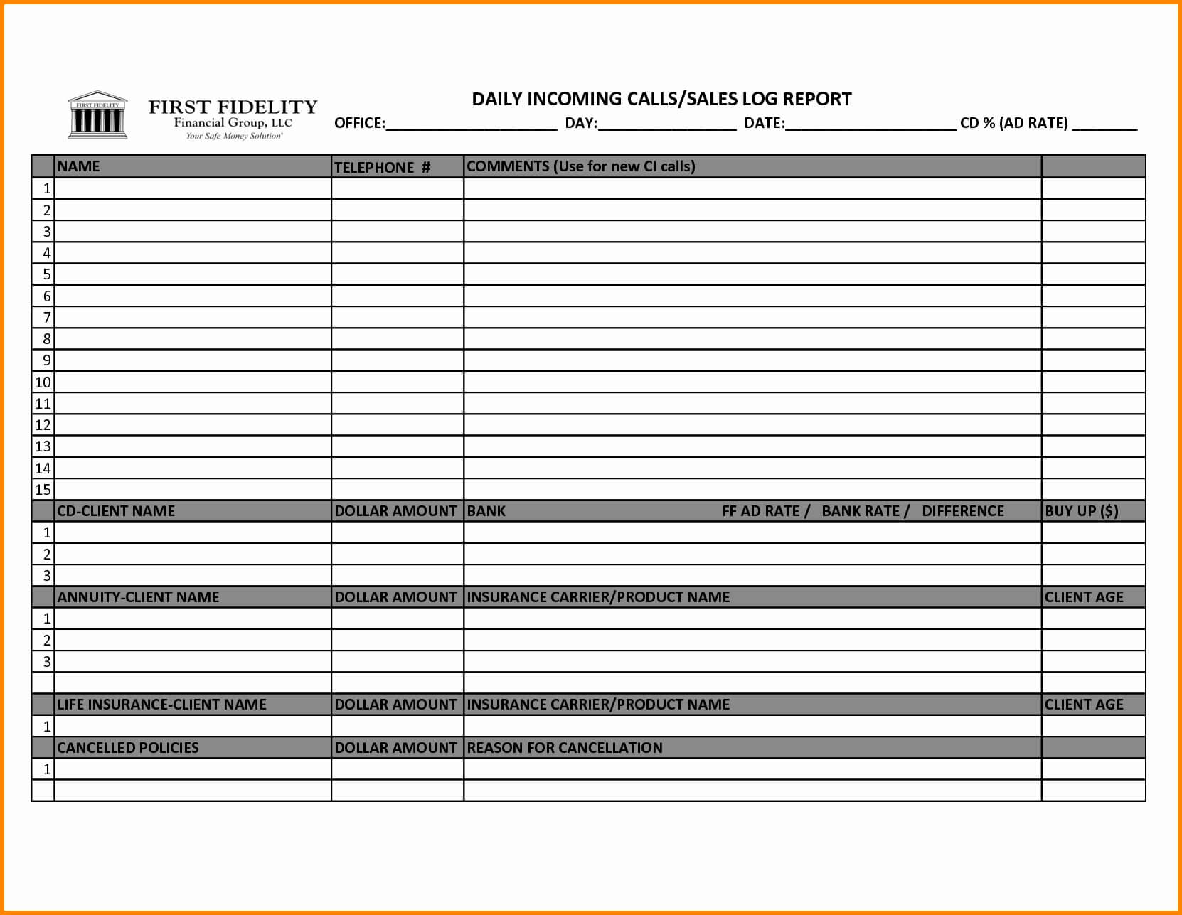 004 Template Ideas Sales Calls Report Sample Call Reports Or Pertaining To Sales Call Report Template Free