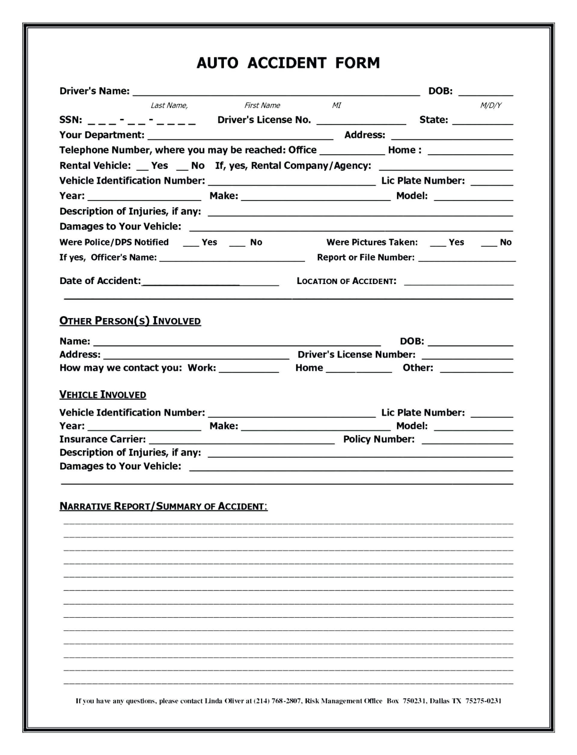 004 Traffic Accident Report Form Template Ideas Reporting Of Throughout Motor Vehicle Accident Report Form Template