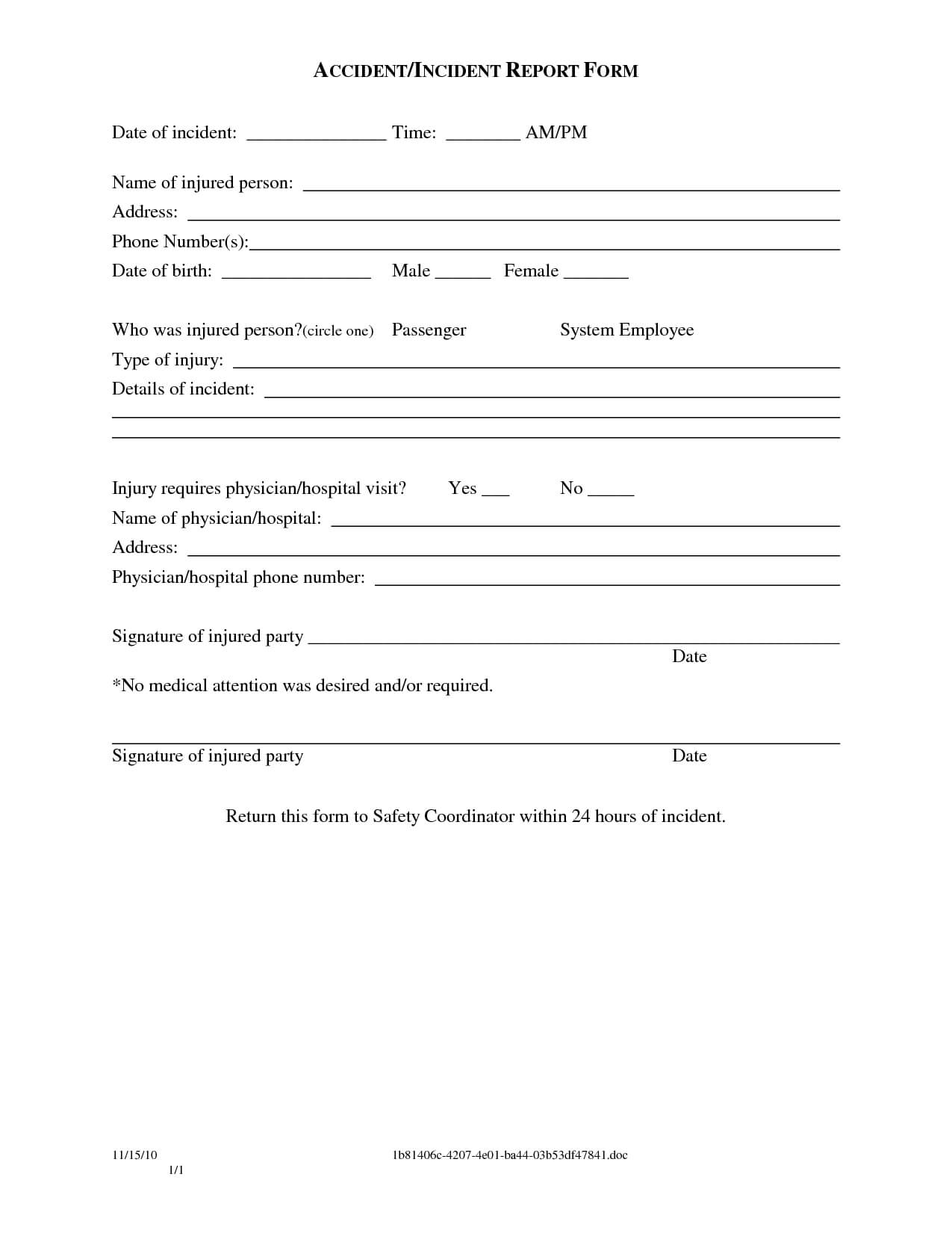 004 Vehicle Accident Report Form Template Doc Ideas Rare With Incident Report Form Template Doc