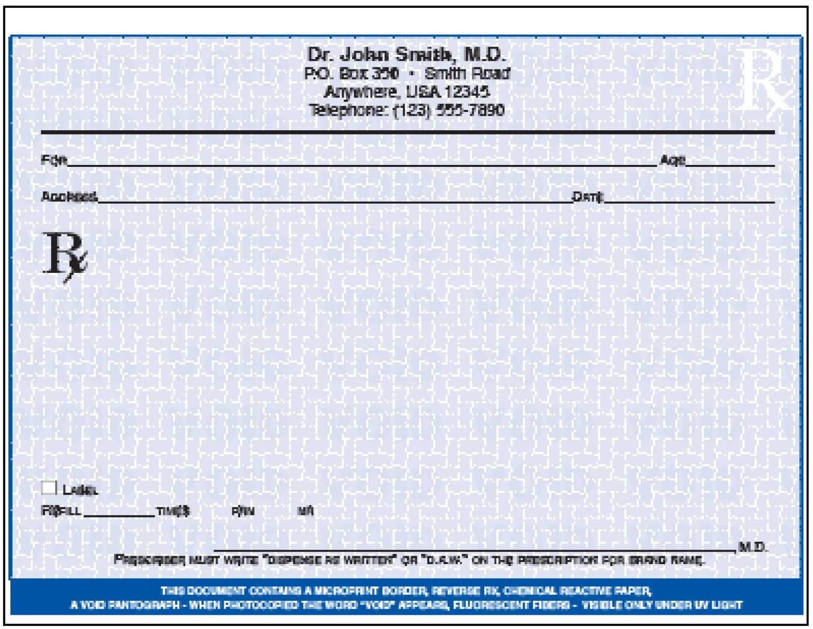 005 Doctor Prescription Pad Template Microsoft Word Free With Regard To Doctors Prescription Template Word