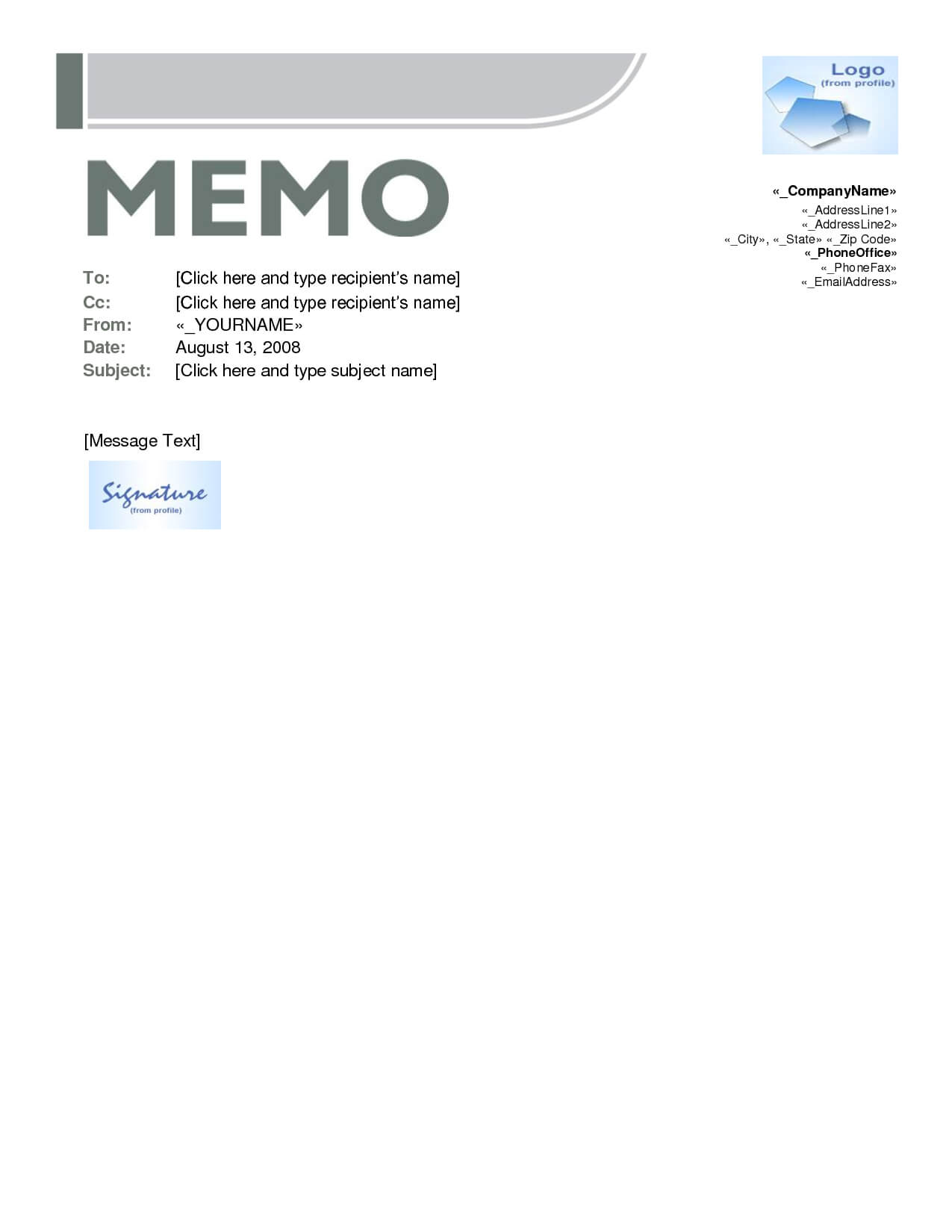 005 Microsoft Word Memo Template 421399 Templates For Within Memo Template Word 2010
