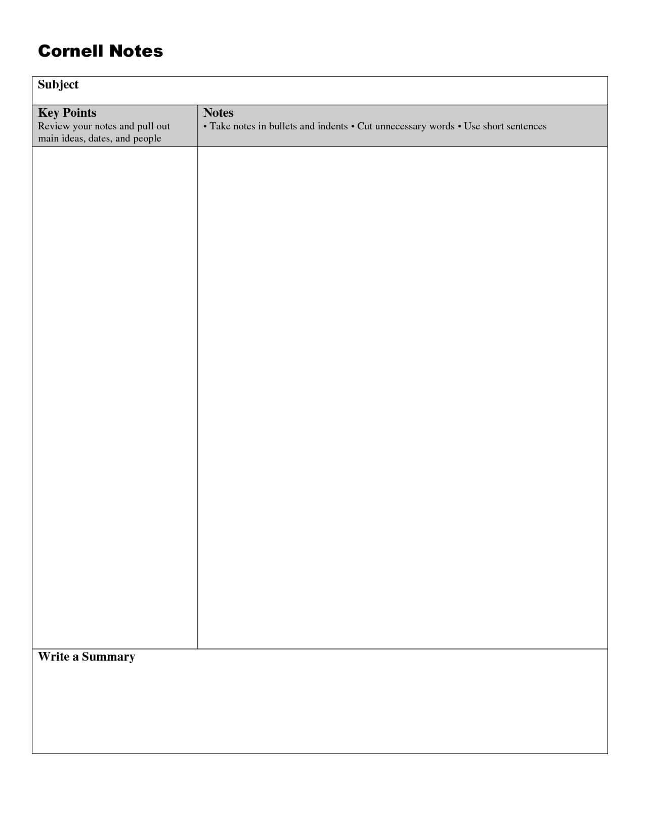 005 Note Taking Template Word Ideas Unforgettable Cornell Inside Note Taking Template Word