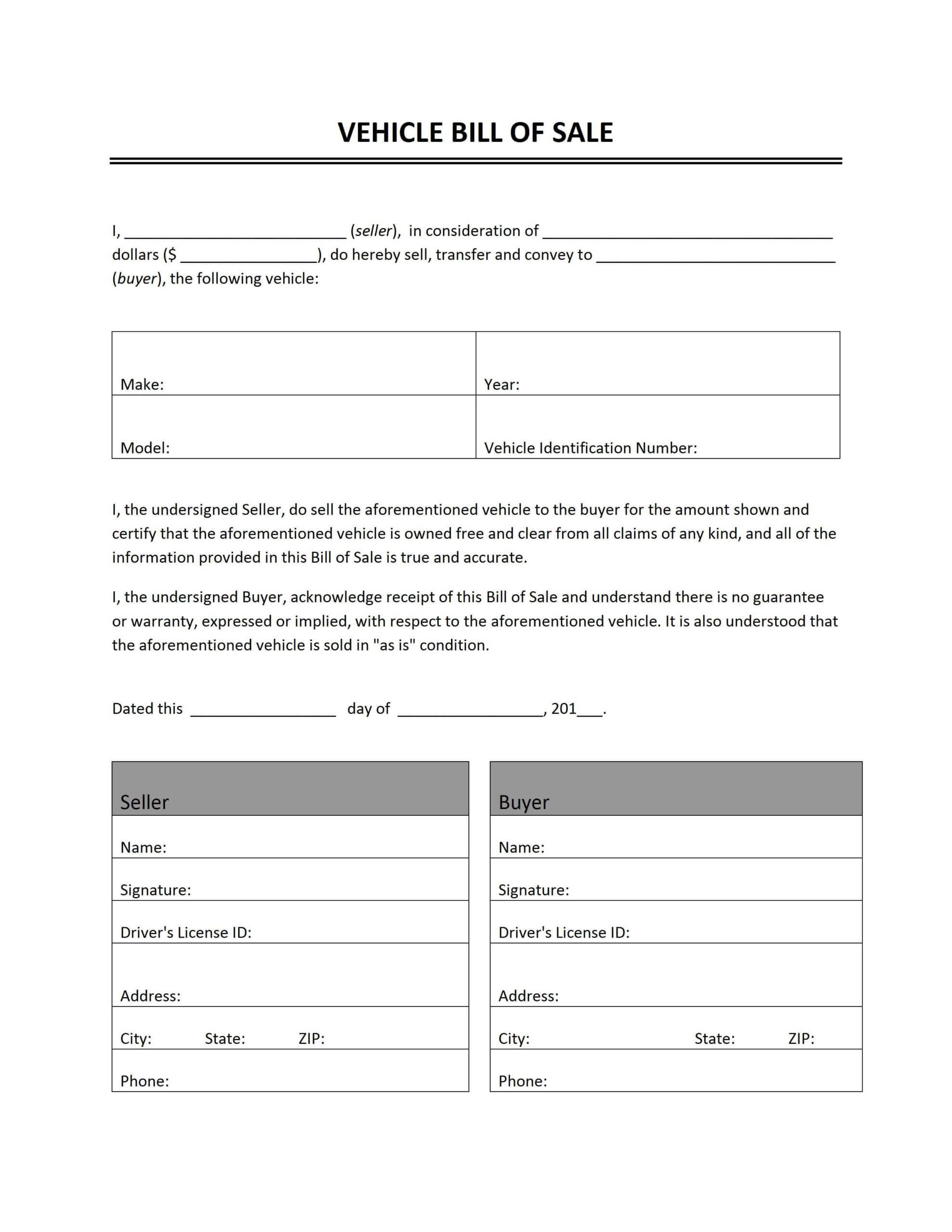 006 Bill Of Sale Word Template Uk Awesome Ideas Car ~ Thealmanac Throughout Car Bill Of Sale Word Template