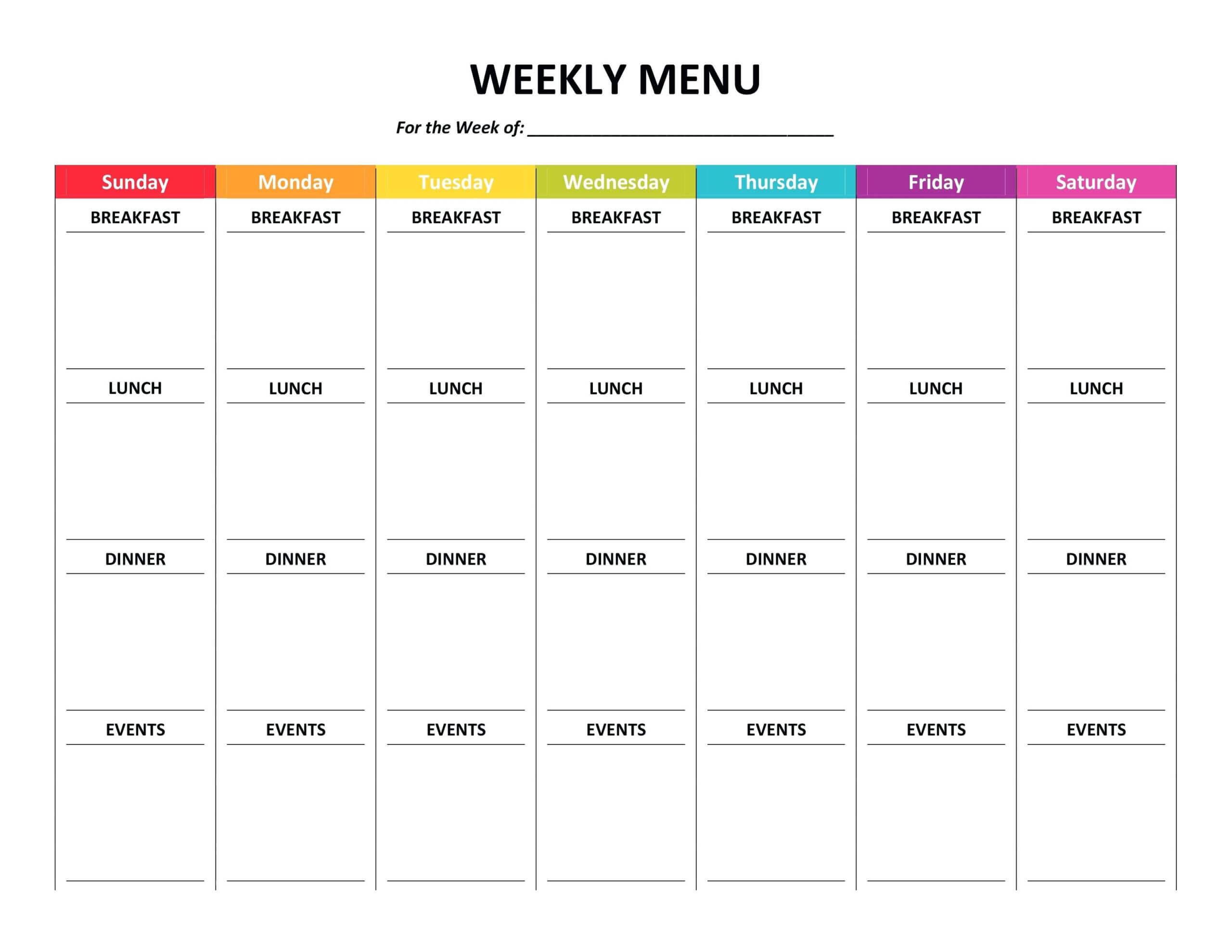 006 Free Meal Plan Template Word Ideas Best ~ Thealmanac Regarding Menu Planning Template Word
