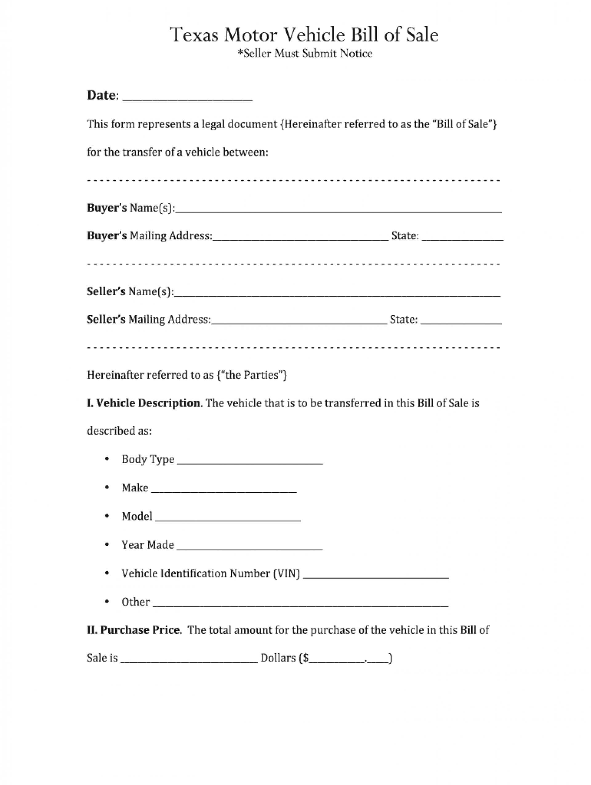 007 Template Ideas Car Bill Of Sale Word Stirring Free Used Throughout Car Bill Of Sale Word Template