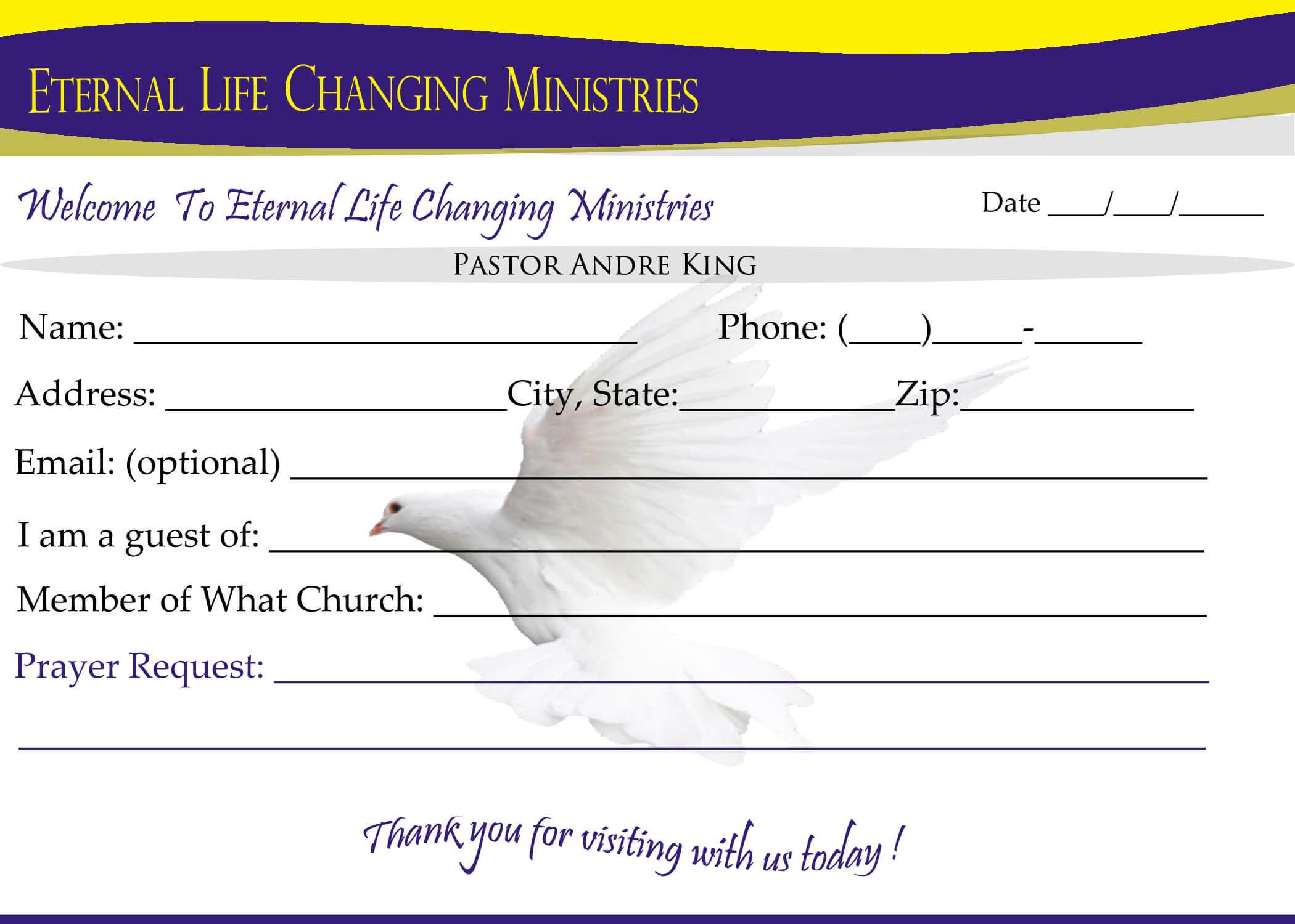 007 Template Ideas Eternal Life Visitor Card Church In Church Visitor Card Template Word