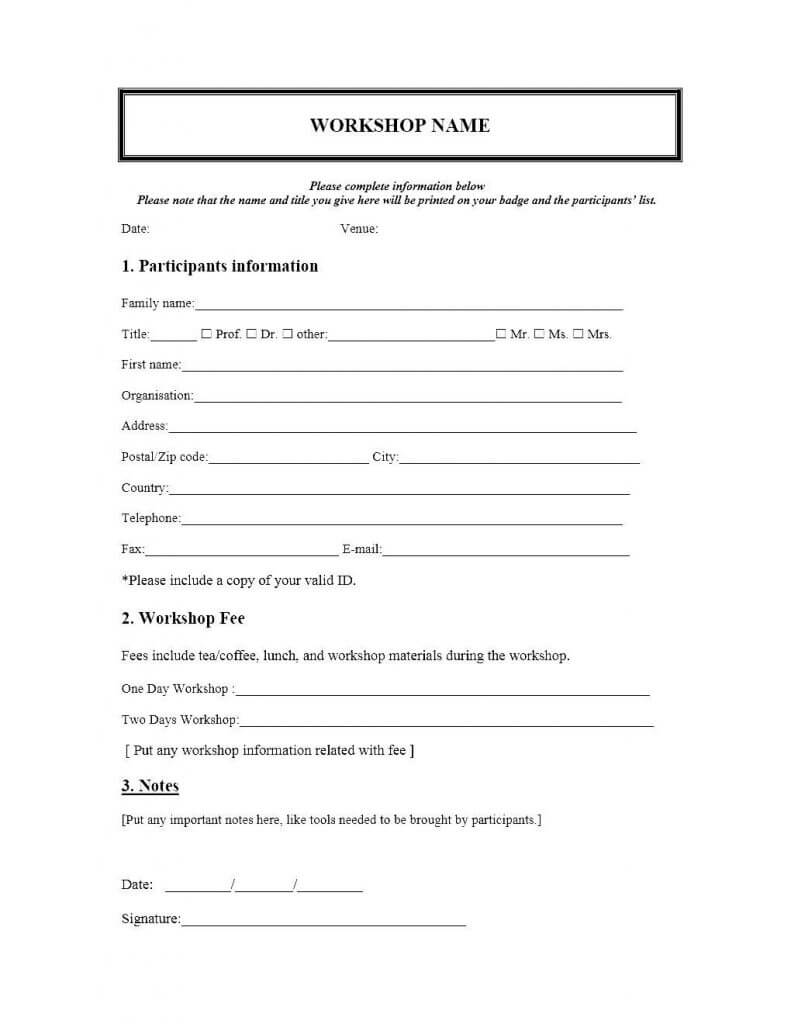 008 Microsoft Word Forms Templates Template Ideas Event Regarding Registration Form Template Word Free