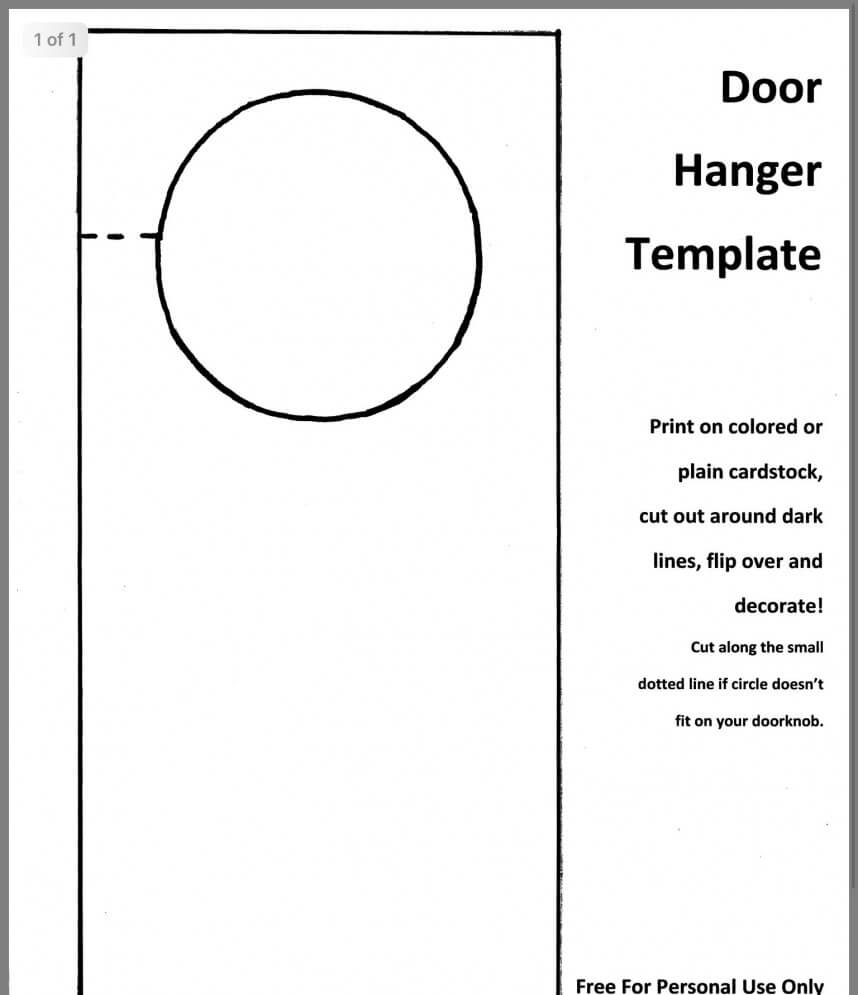 009 Blank Door Hanger Template Ideas Templates For Pertaining To Blanks Usa Templates