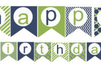 009 Happy Birthday Banner Template Unbelievable Ideas Word with regard to Free Printable Party Banner Templates