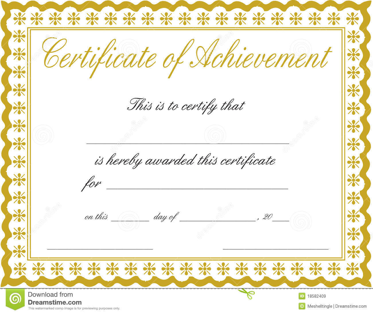 011 Free Printable Certificate Of Achievement Template Blank With Blank Certificate Of Achievement Template