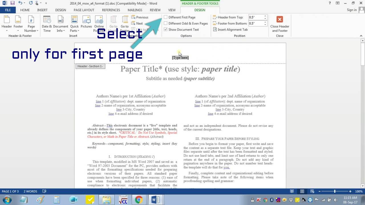 012 Ieee Research Paper Format Ms Word ~ Museumlegs Intended For Ieee Template Word 2007