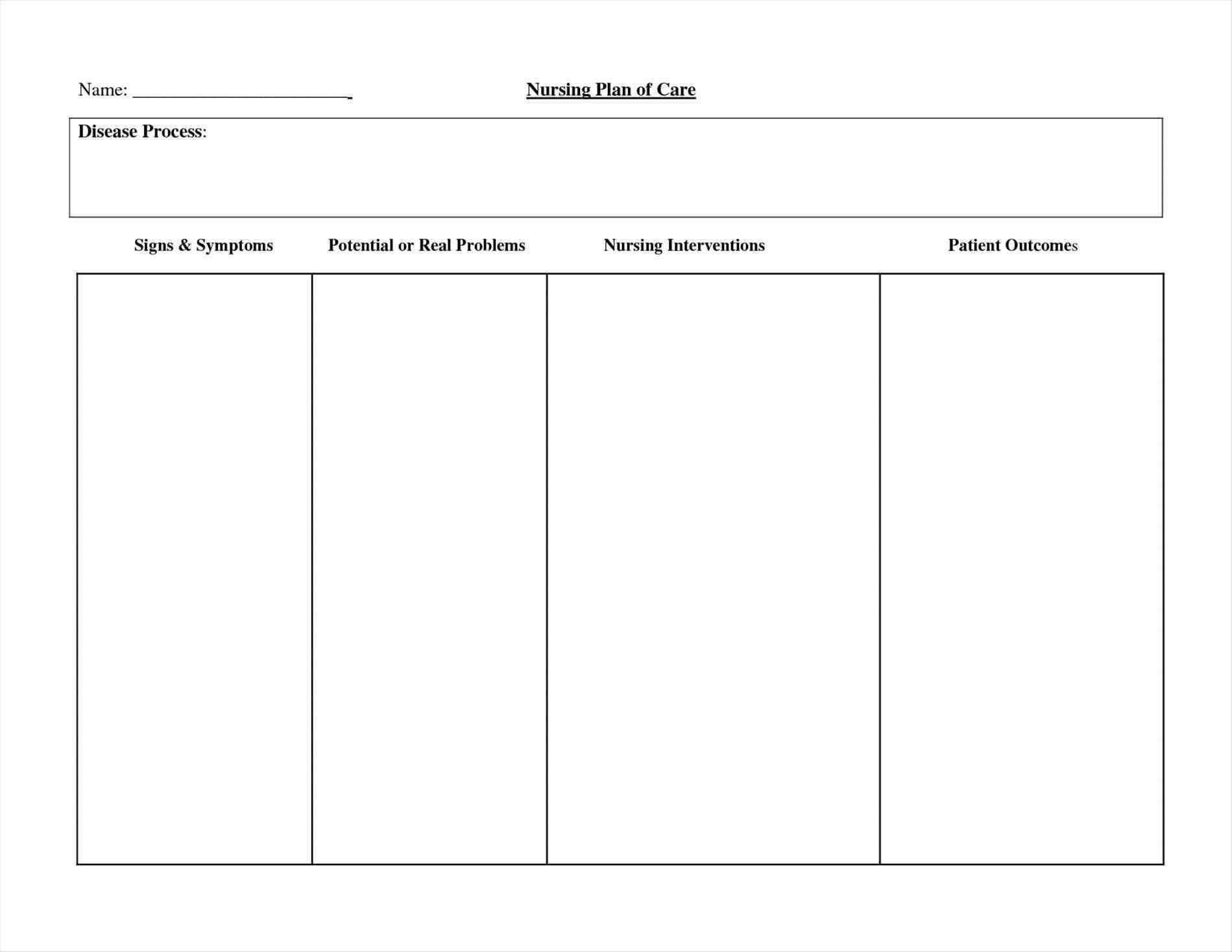 012 Nursing Care Plan Templates Blank Free Template Art In Nursing Care Plan Templates Blank
