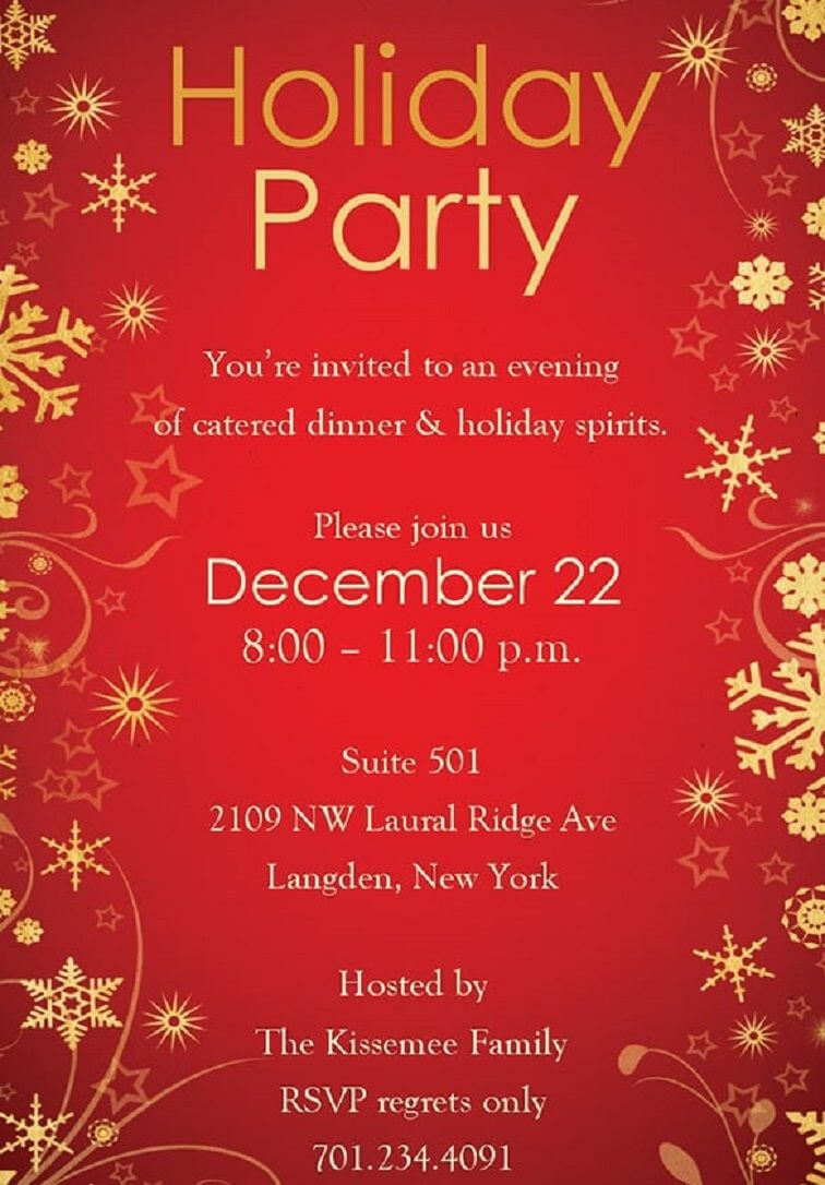 014 Template Ideas Free Download Christmas Party Flyer With Regard To Free Christmas Invitation Templates For Word