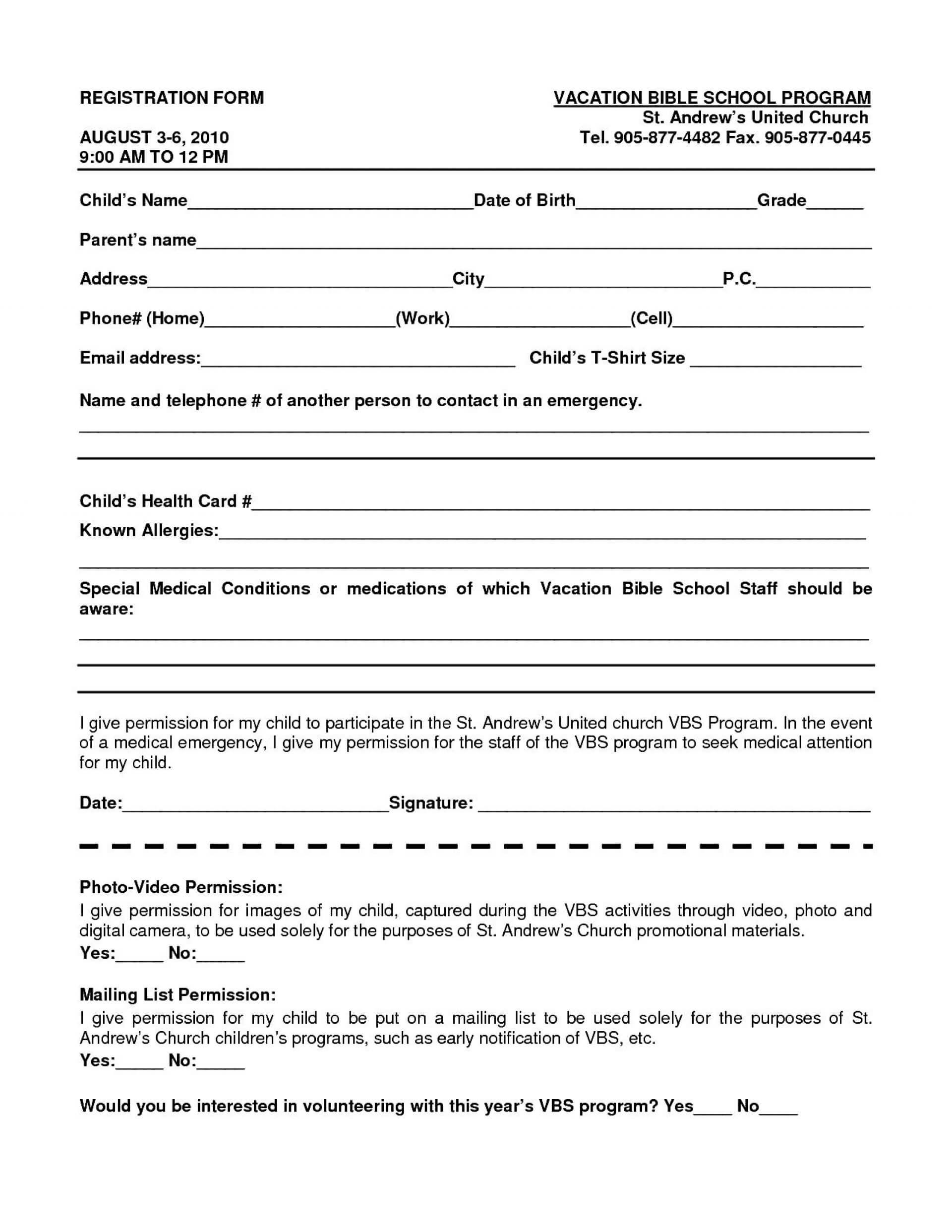 016 School Registration Form Template Word Ideas Free In With Regard To School Registration Form Template Word