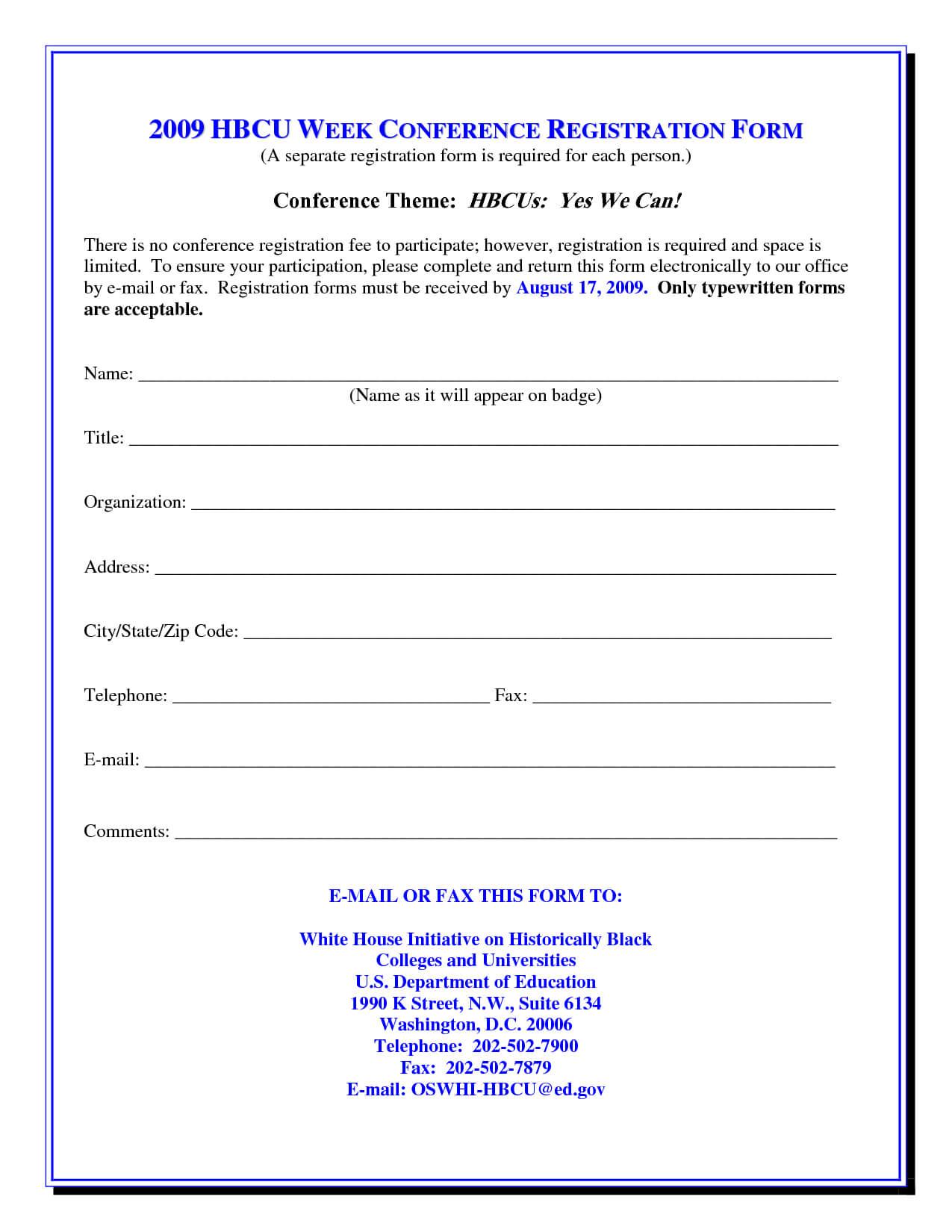 017 Template Ideas Class Registration Form Word 317167 Forms For Seminar Registration Form Template Word