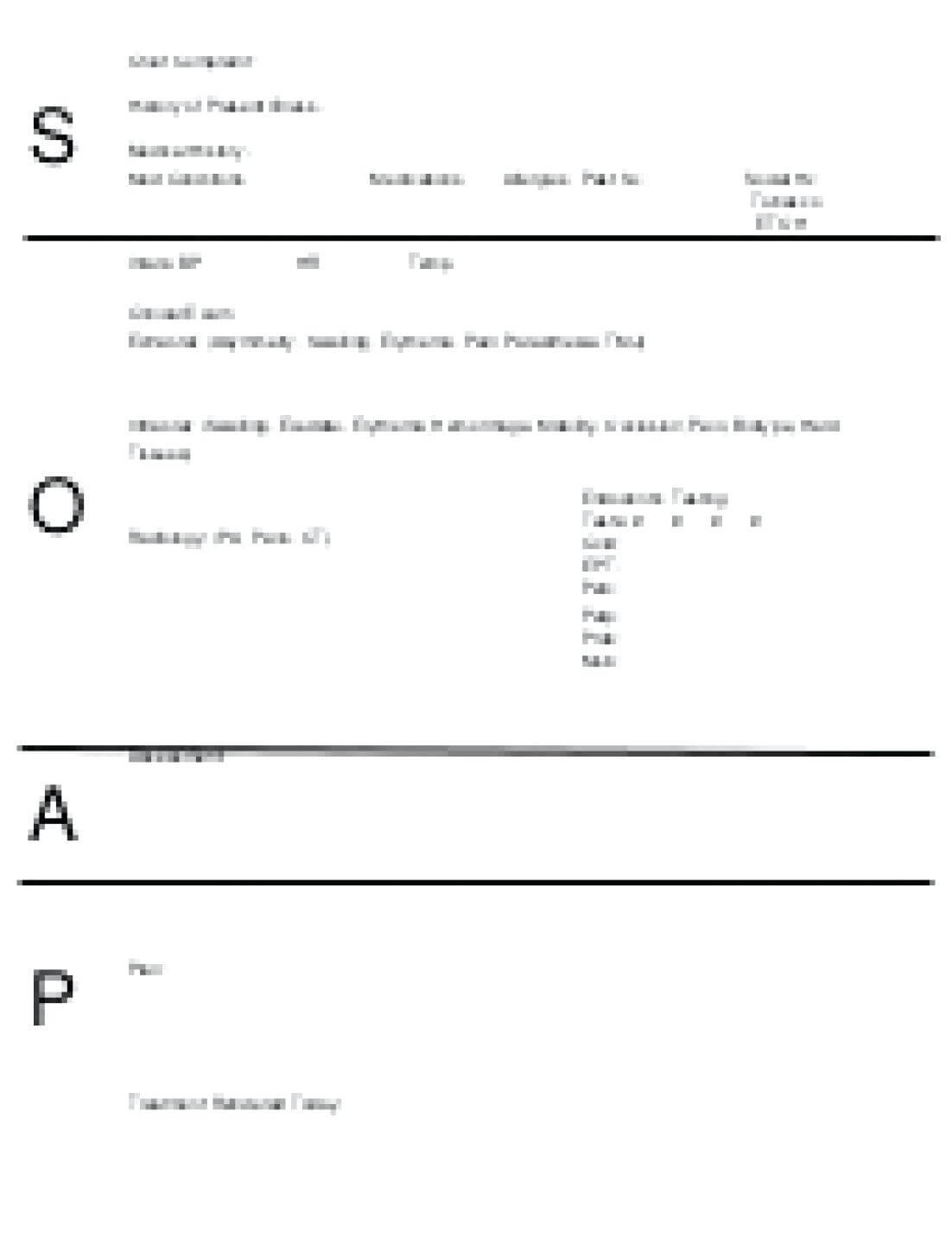 018 Blank Soap Note Template Perfect Ems Format Staggering Inside Soap Note Template Word