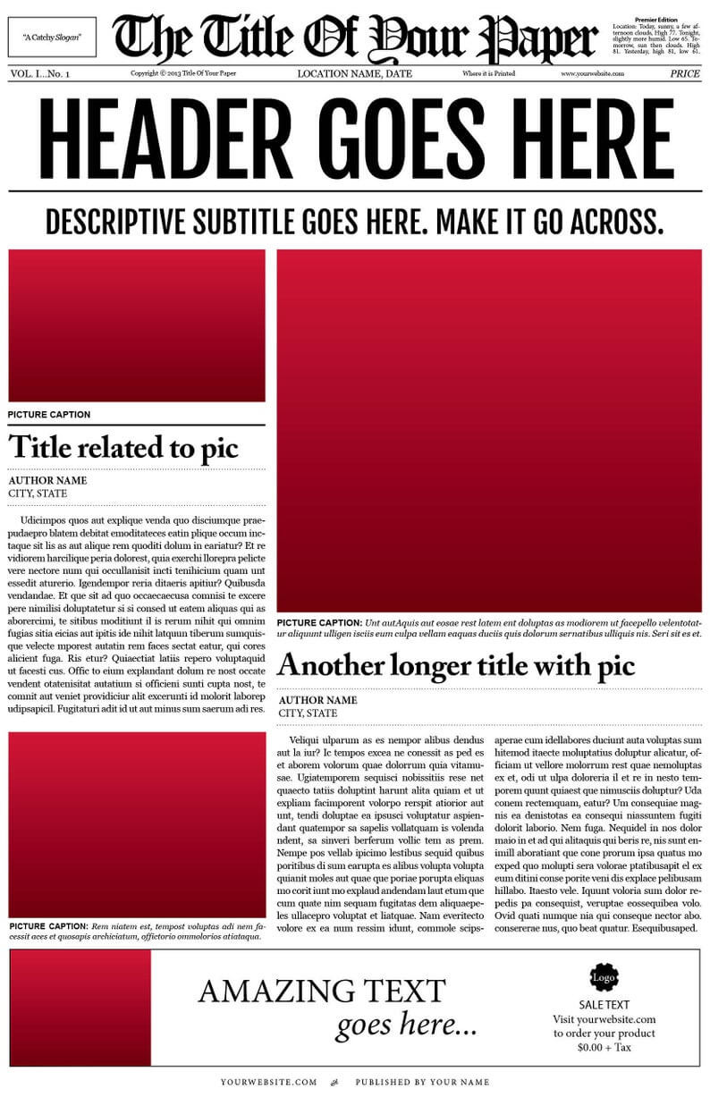 018 Free Newspaper Template For Word Ideas Microsoft Il Inside Blank Newspaper Template For Word