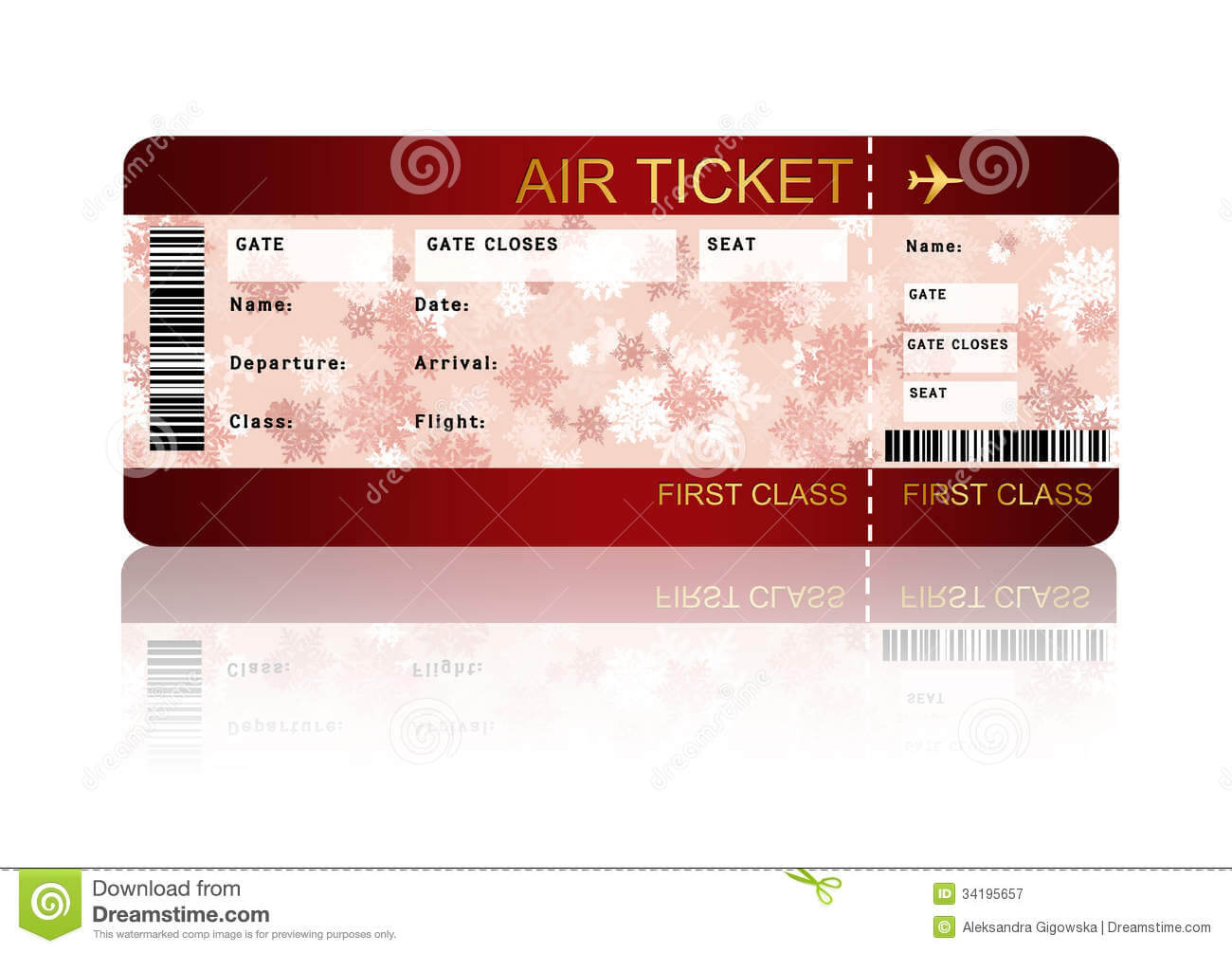 019 Free Plane Ticket Template Word Christmas Airline With Plane Ticket Template Word