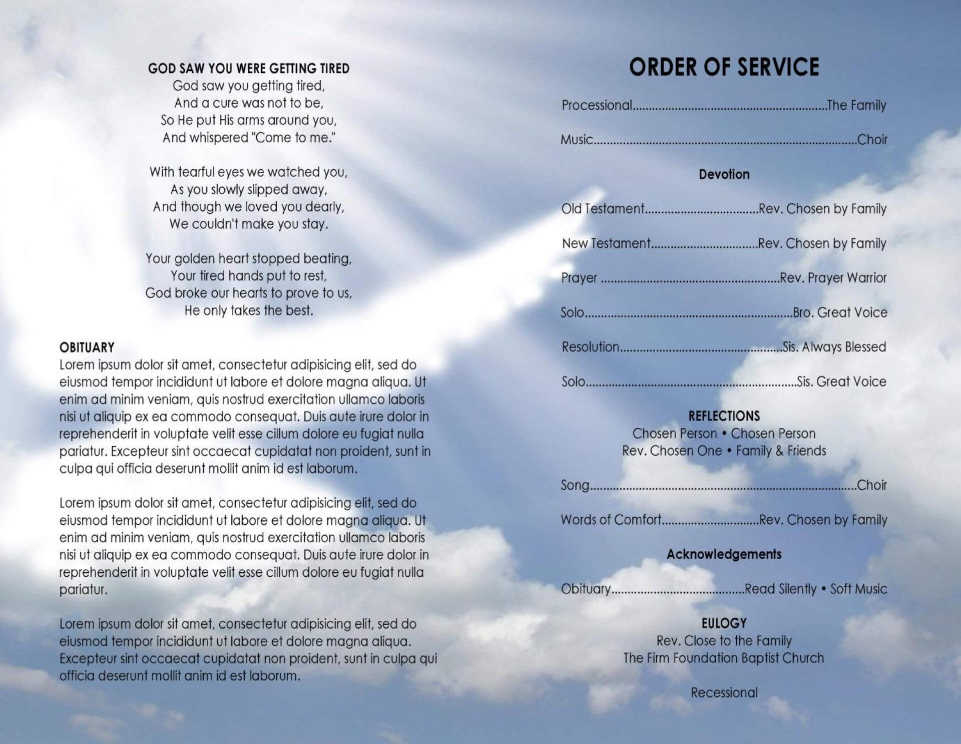 020 Template Ideas Free Blank Church Program Templates With Regard To Church Program Templates Word