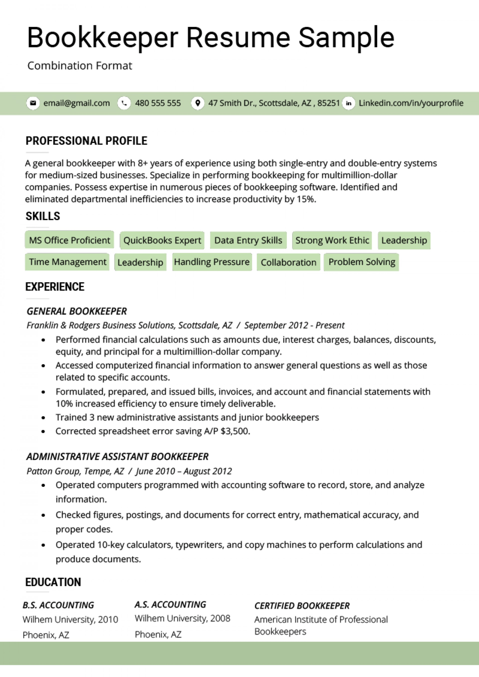 021 Combination Resume Template Word Bination Format In Combination Resume Template Word