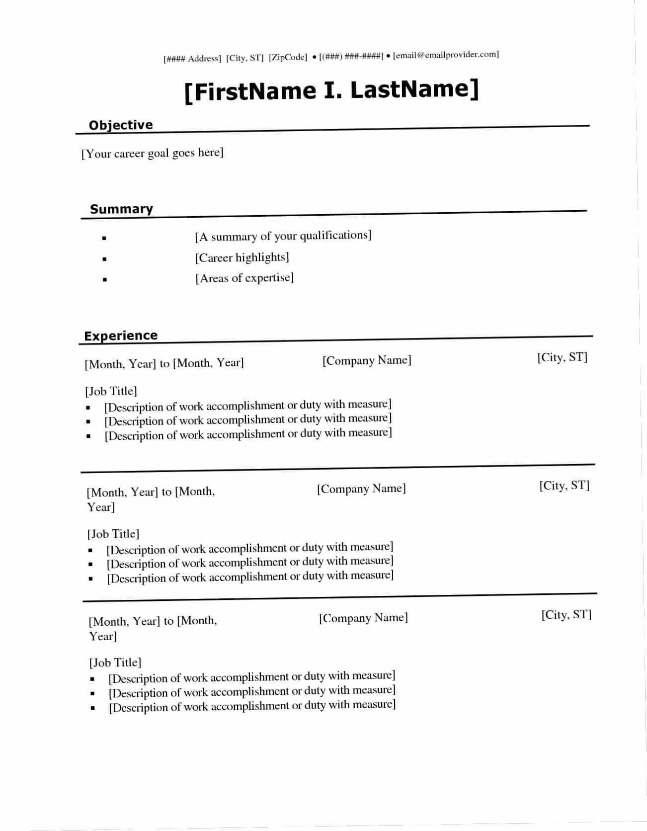 022 Fill Ine Template Lovely The Blank Templates For Intended For Blank Resume Templates For Microsoft Word
