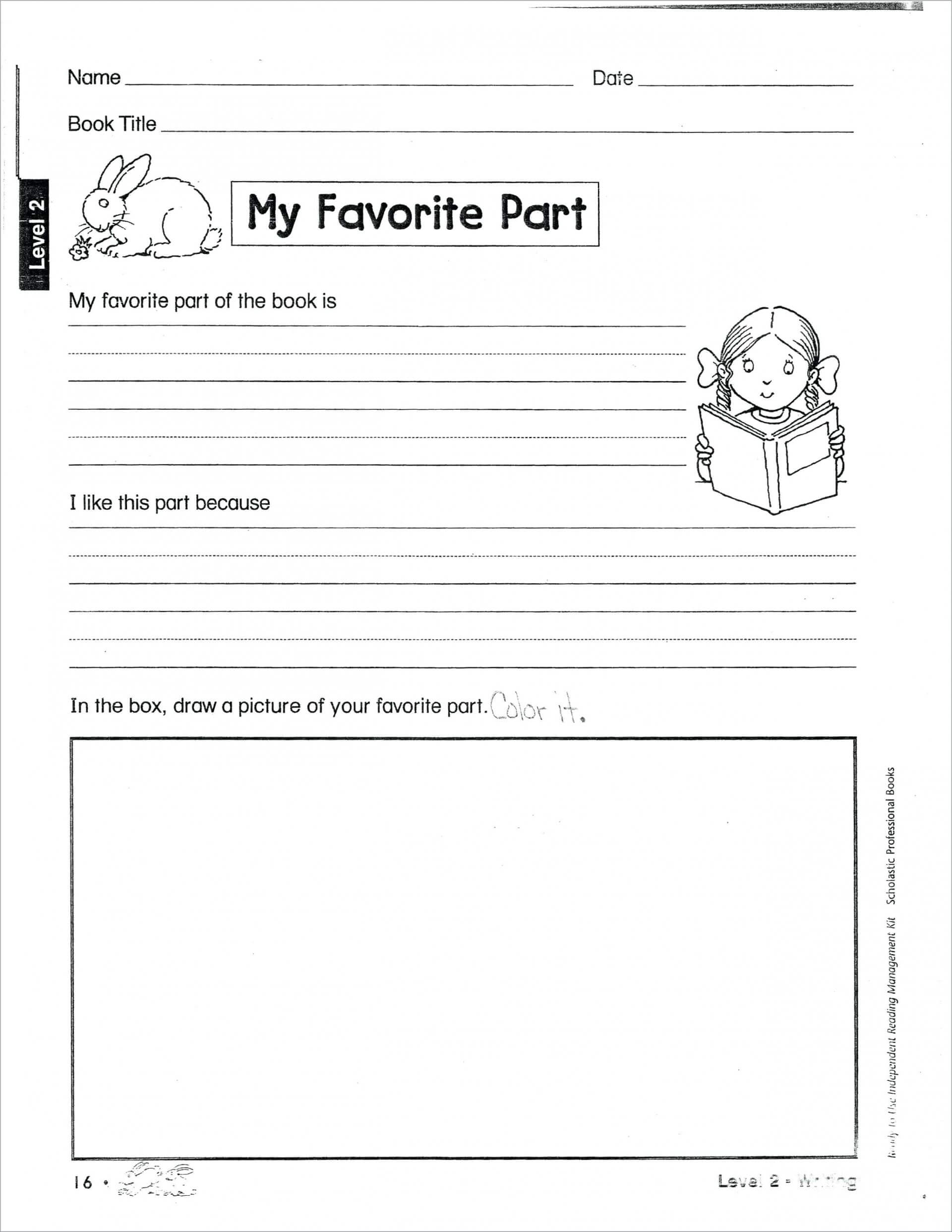 024 2Nd Grade Book Report Template 132370 Free Templates Intended For Second Grade Book Report Template
