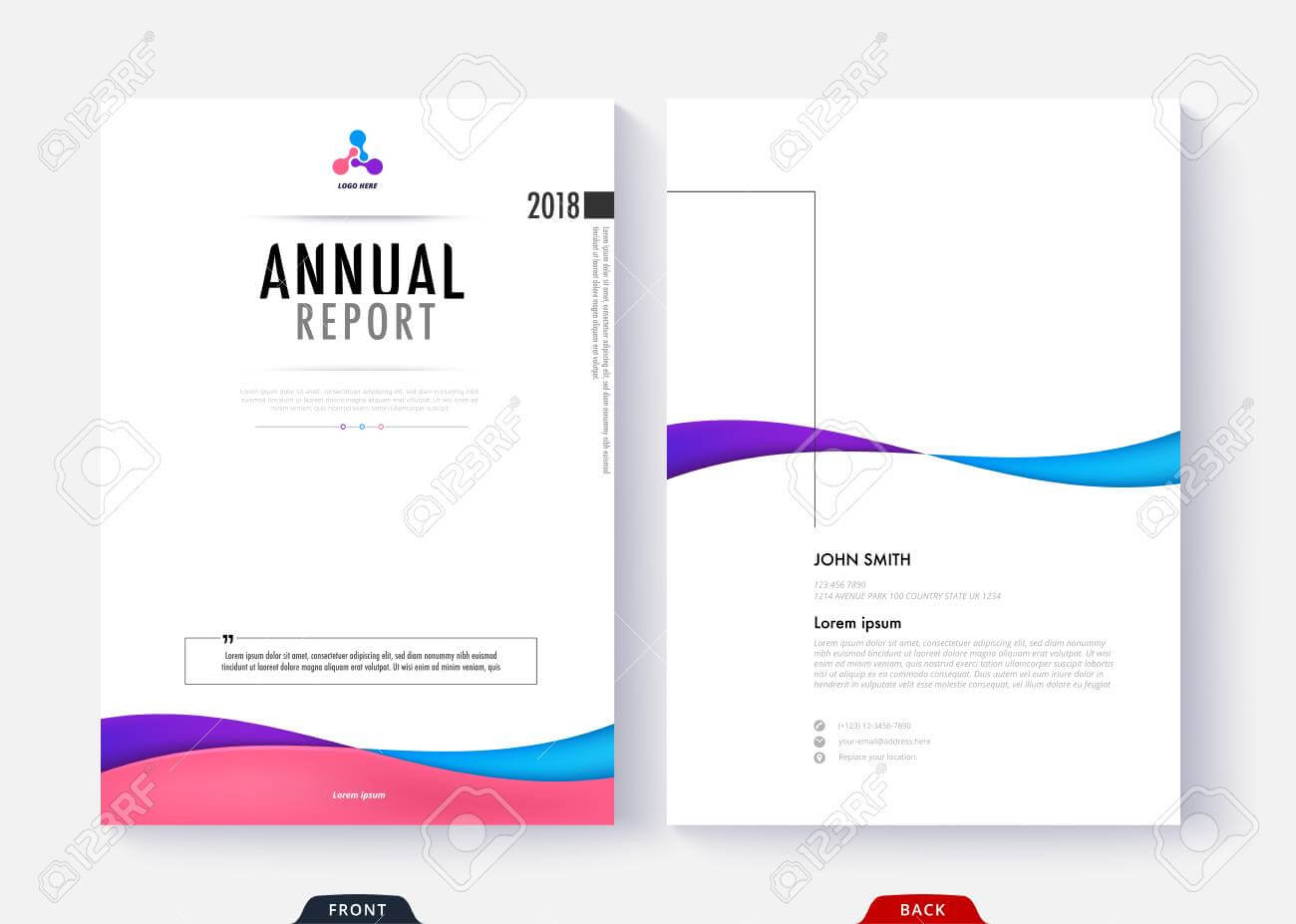 024 Report Cover Page Template Annual Design For Business Intended For Report Cover Page Template Word