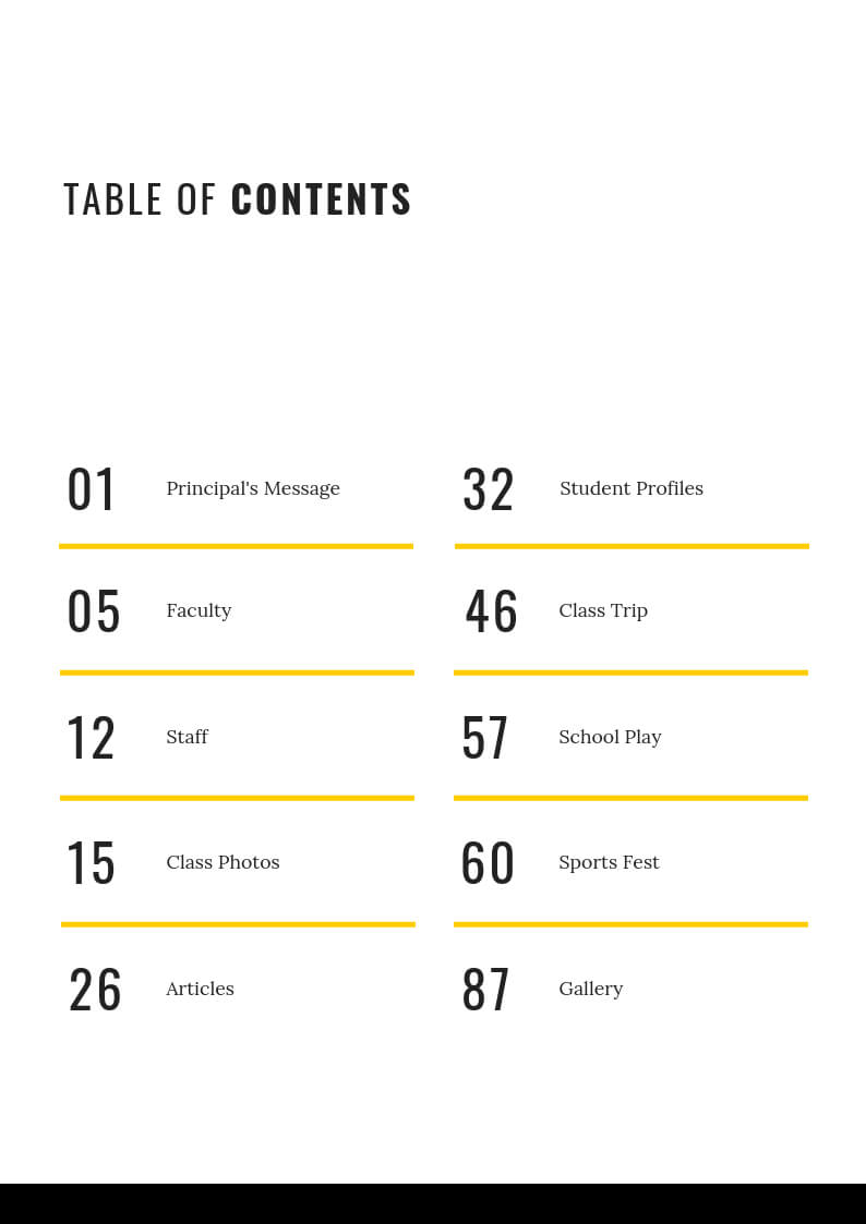 024 Template Ideas Table Of Contents Stunning Powerpoint Ppt Throughout Blank Table Of Contents Template