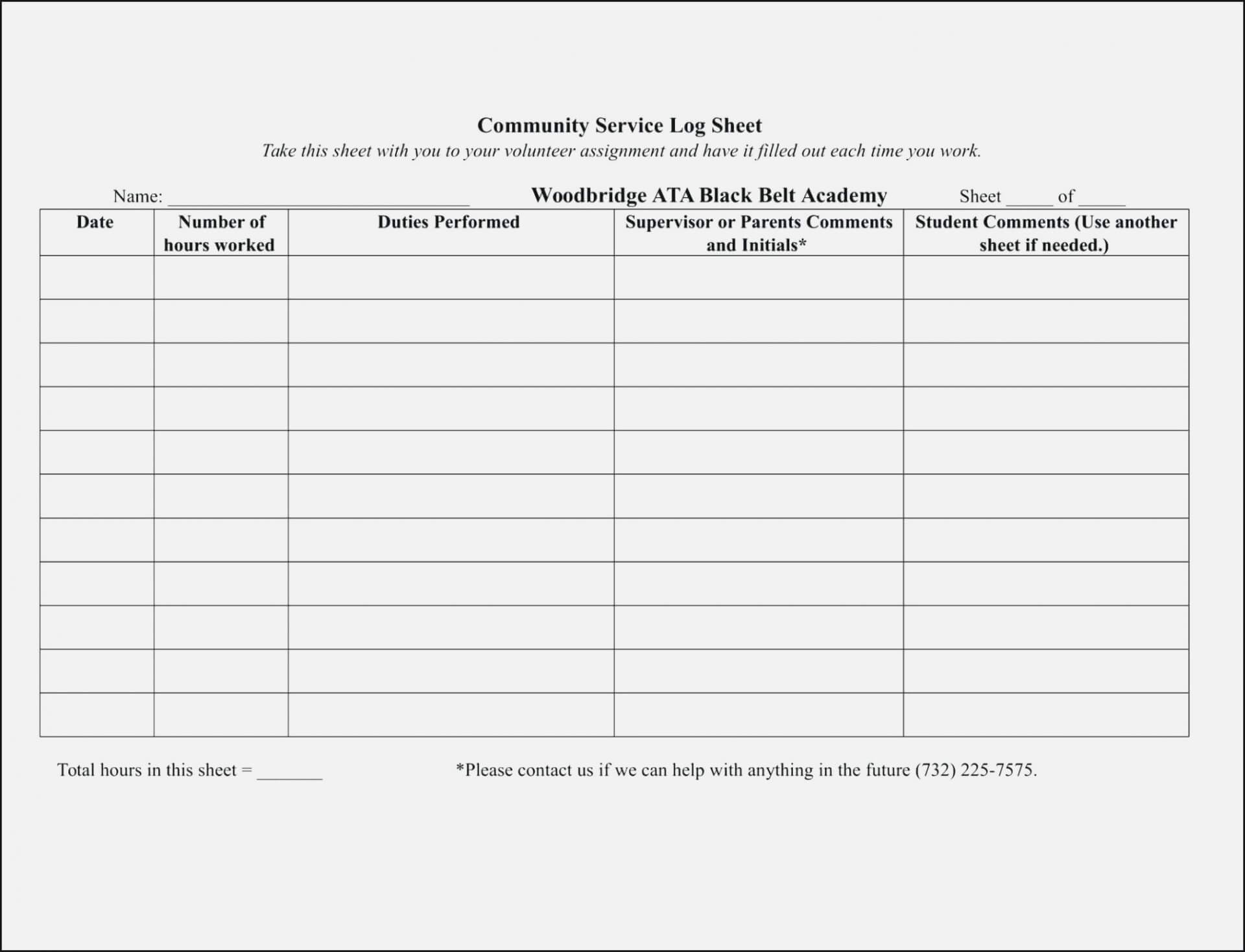 025 Volunteer Sign Up Form Template Sheet Templates Ideas For Community Service Template Word
