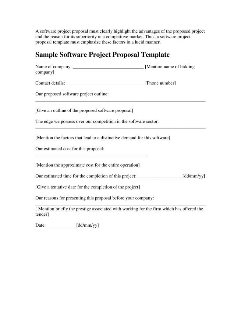 026 Sample Software Project Proposal Template Word Ideas Within Software Project Proposal Template Word