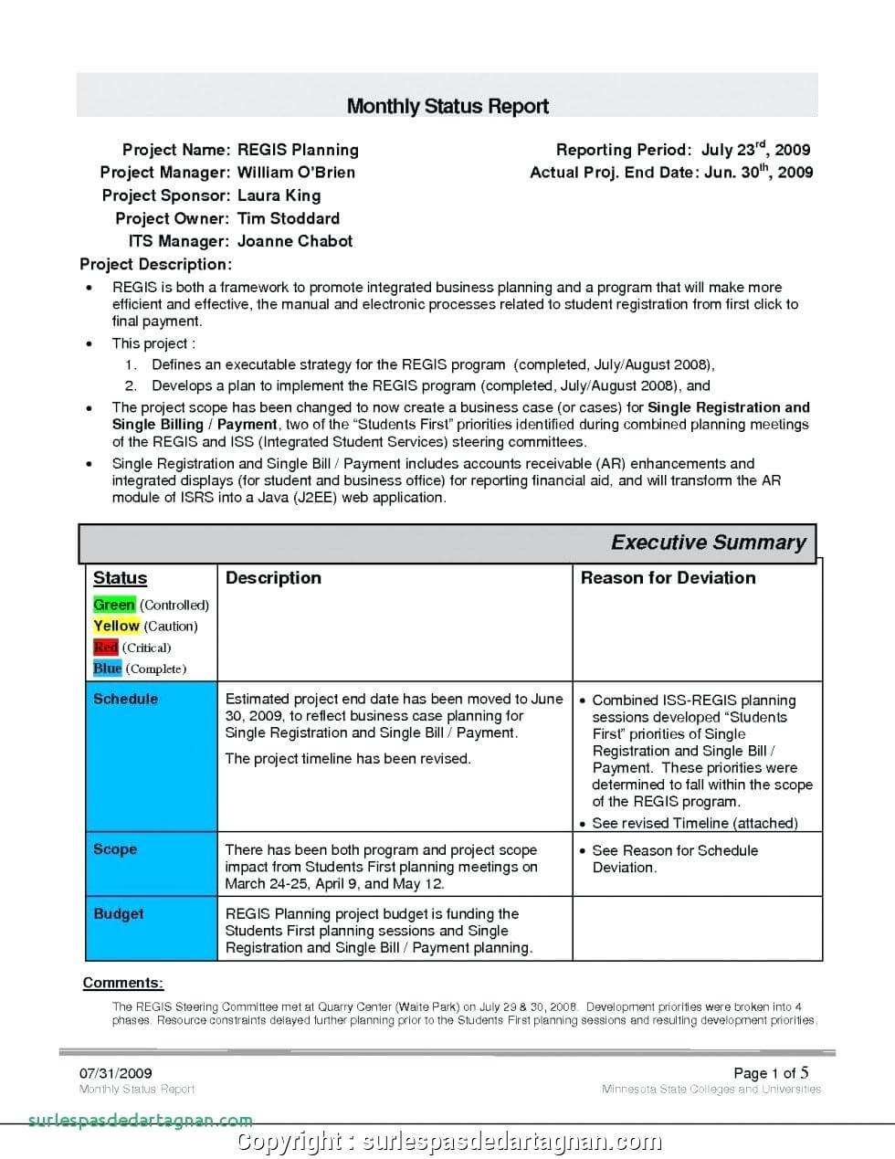 028 Monthly Sales Report Template Executive Manager Example Intended For Sales Manager Monthly Report Templates