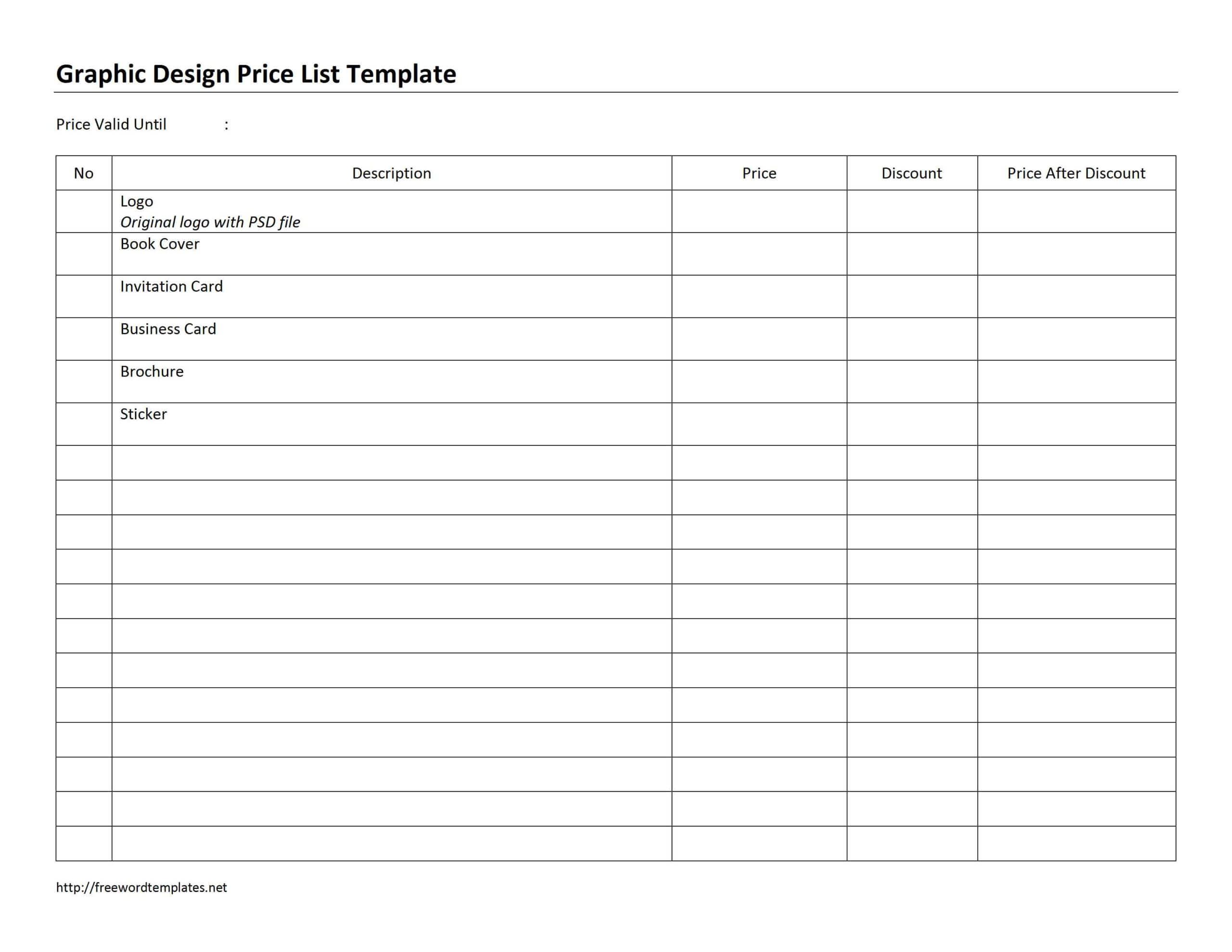 030 Template Ideas Word Price List Archiveswordtemplates With Regard To Proof Of Delivery Template Word