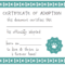 032 Template Ideas Blank Service Dog Certificate Screen Shot Pertaining To Blank Adoption Certificate Template