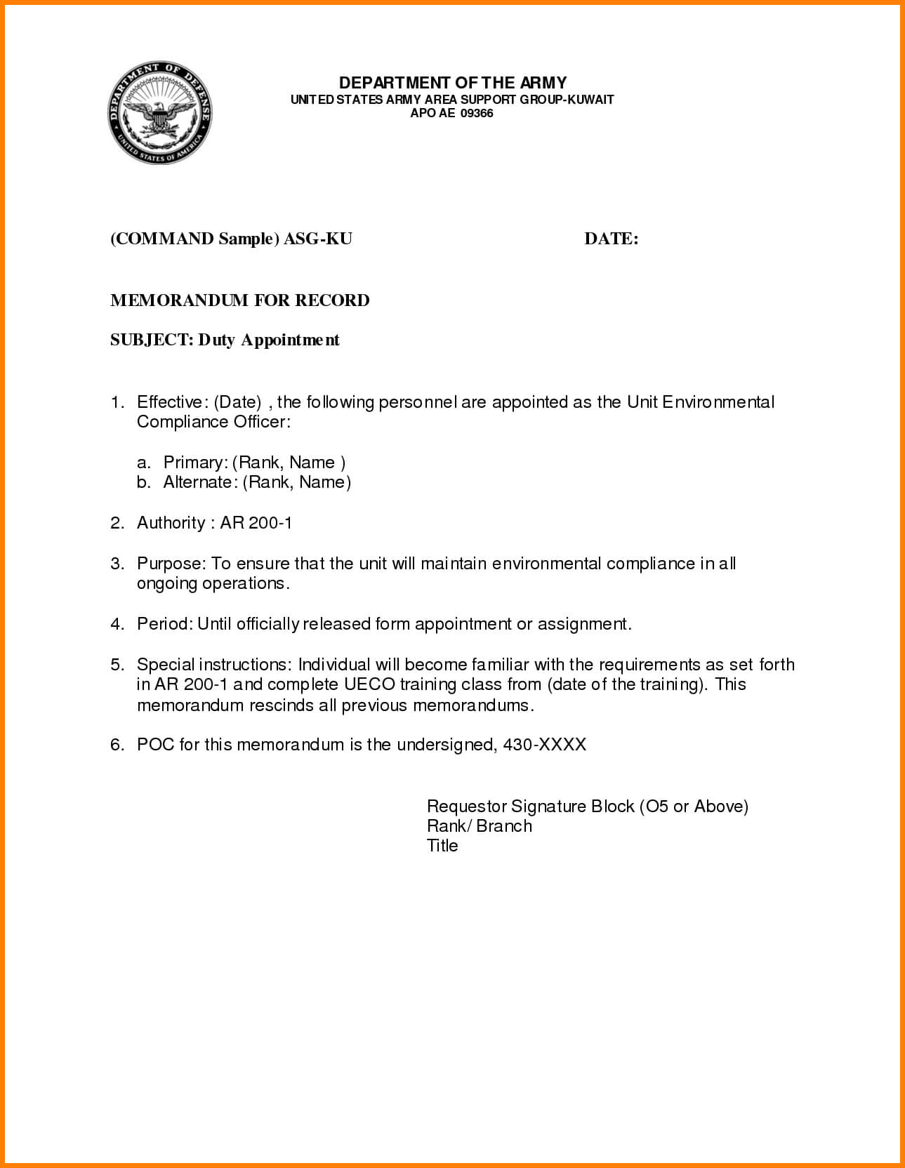 033 Memorandum Template Army Word Microsoft Memo Templates Regarding Army Memorandum Template Word
