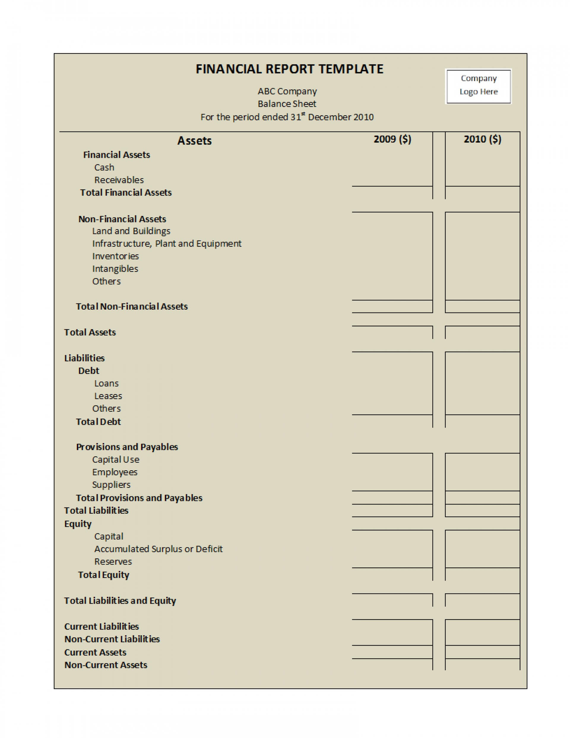 035 Financial Report Template Excel Monthly Pdf Audit Word Regarding Annual Financial Report Template Word