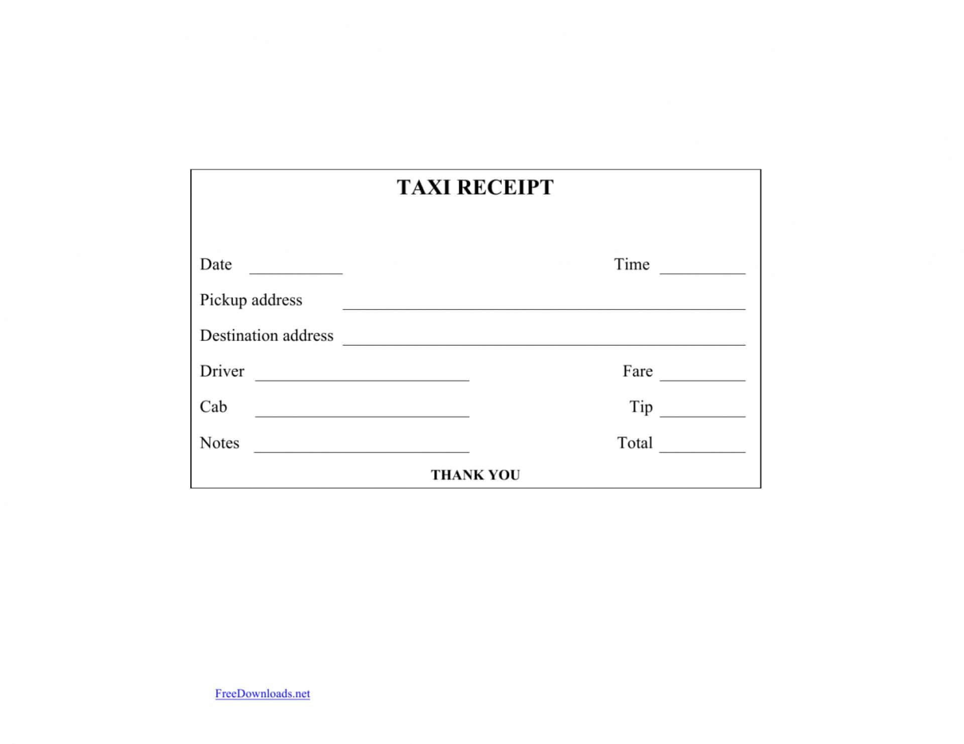 036 Blank Receipt Template Pdf Printablek Forms Sheets Cash Within Blank Taxi Receipt Template