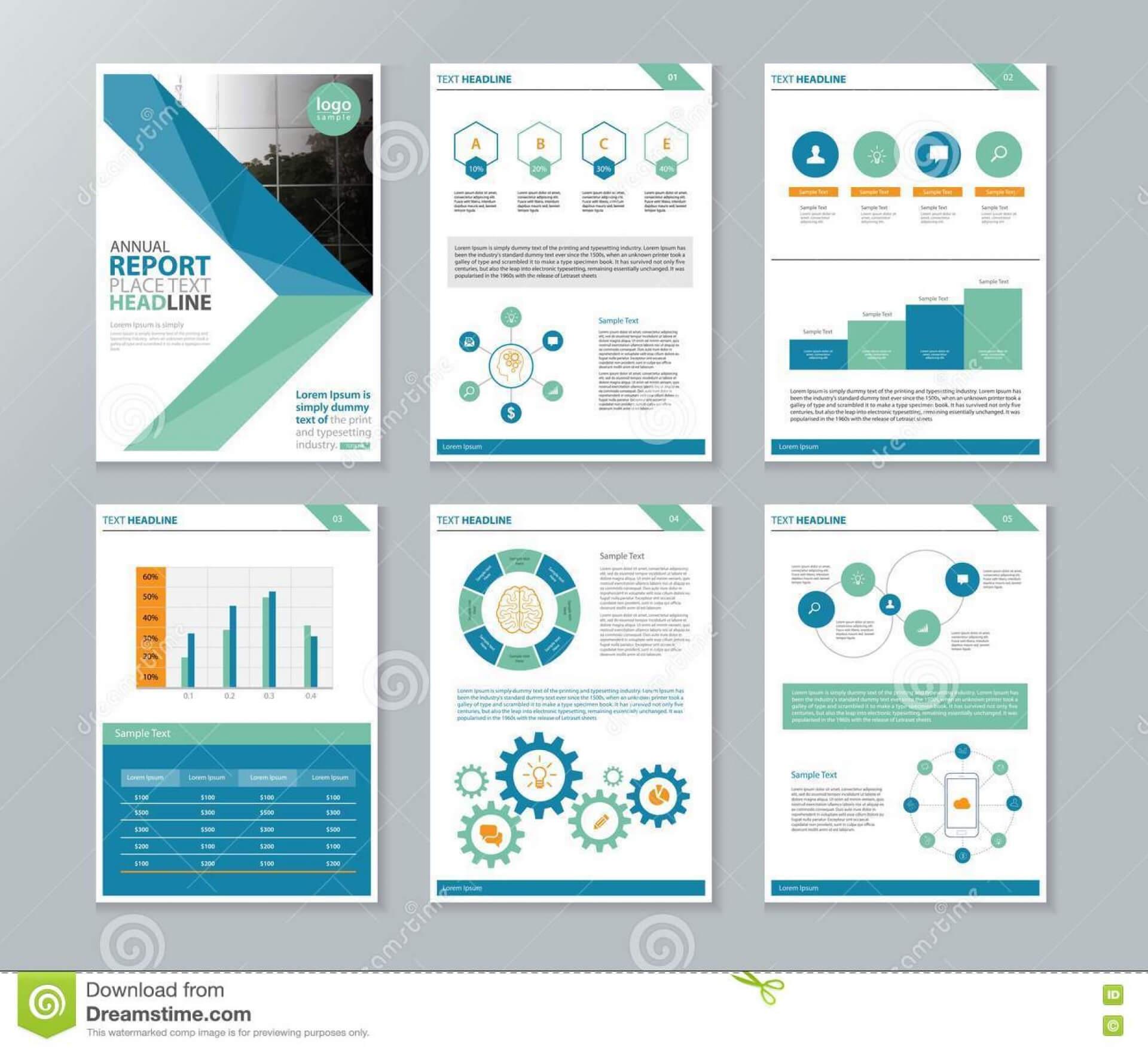 038 Annual Report Template Word Company Profile Brochure In Hr Annual Report Template