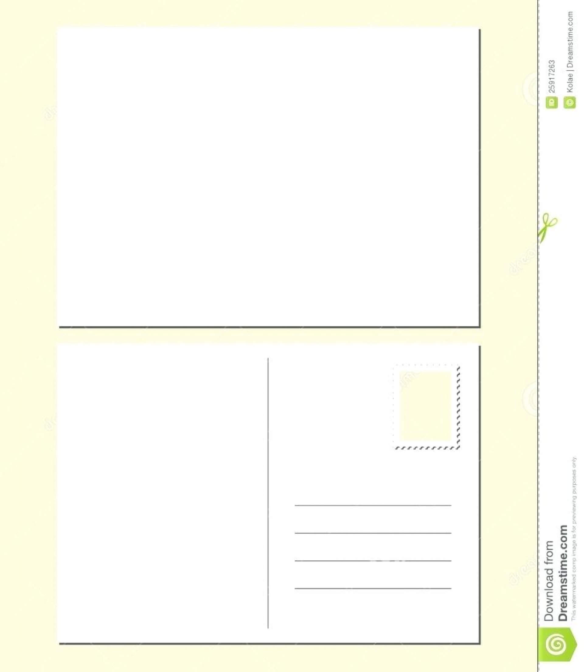 038 Template Ideas Free Printable Postcards Postcard Clipart With Free Blank Postcard Template For Word