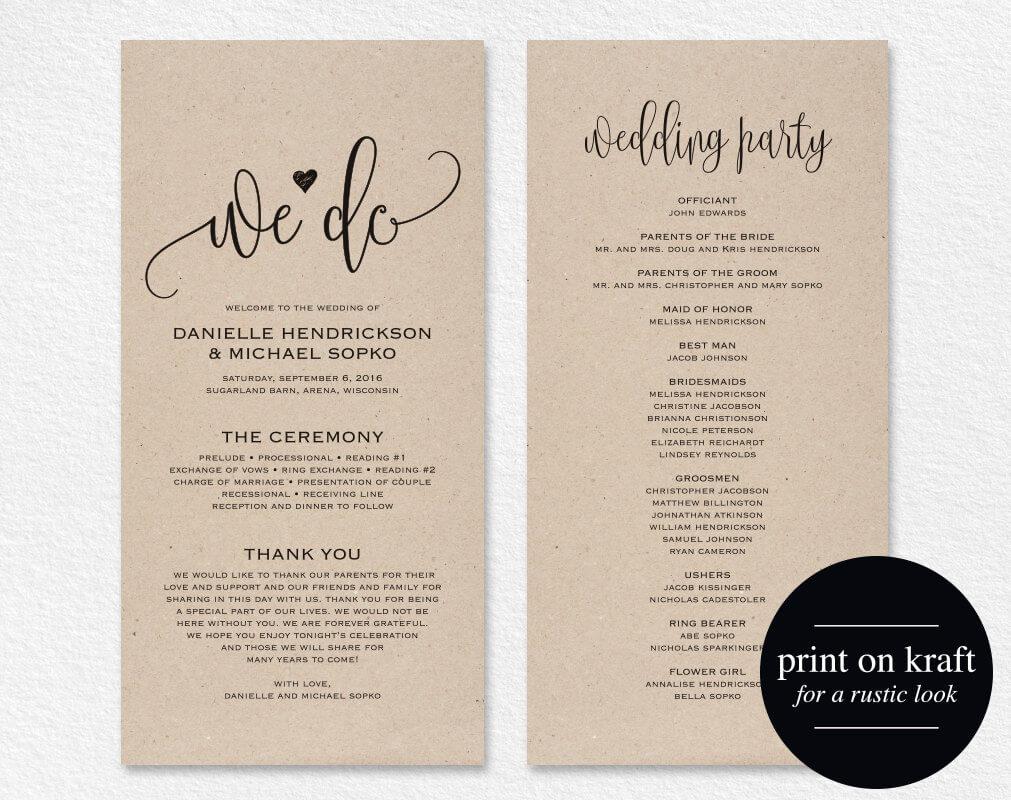039 Free Printable Wedding Program Templates Word Template Inside Free Printable Wedding Program Templates Word