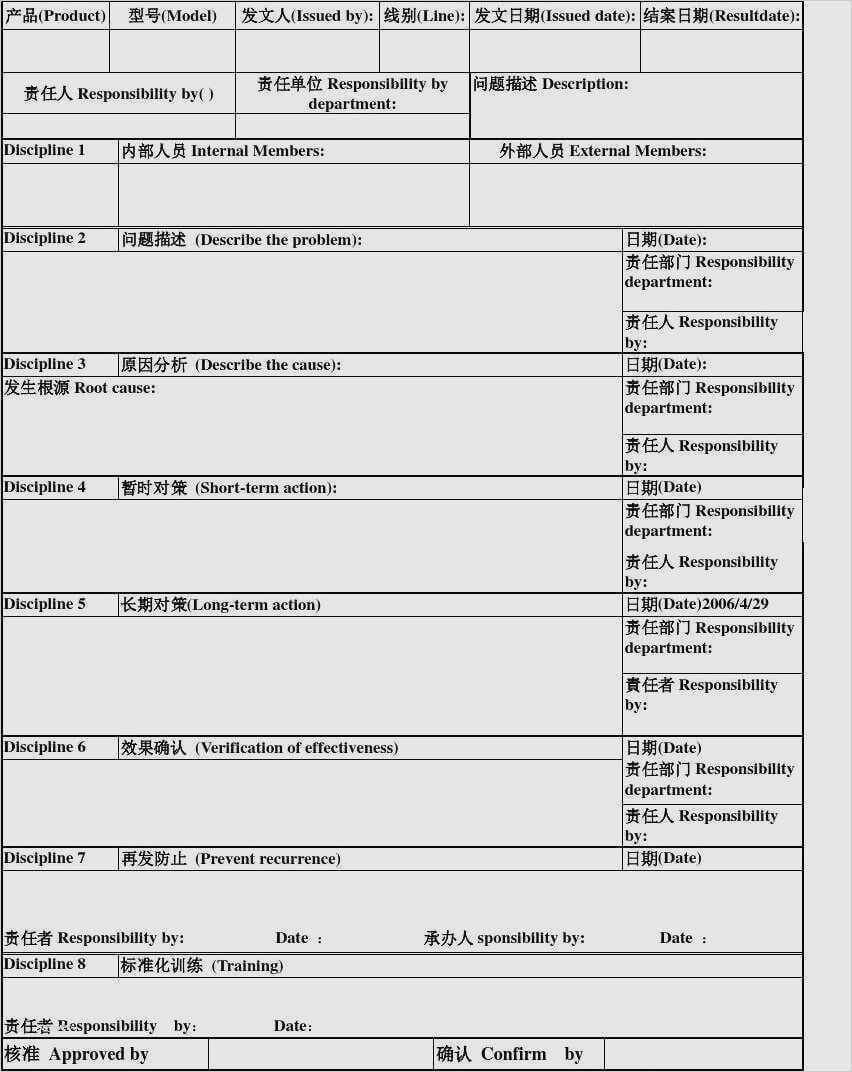 080755C 8D Report Template | Wiring Resources Intended For 8D Report Format Template