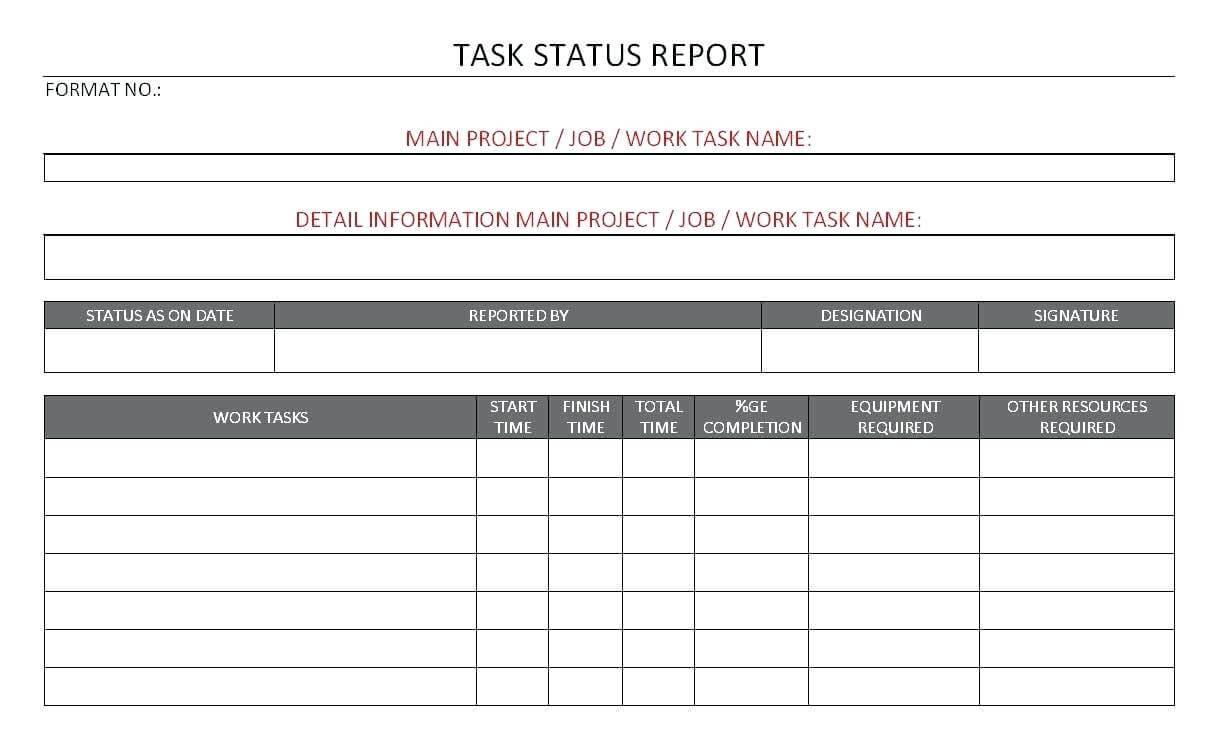 10 Project Progress Reports Templates | Resume Samples Within Job Progress Report Template