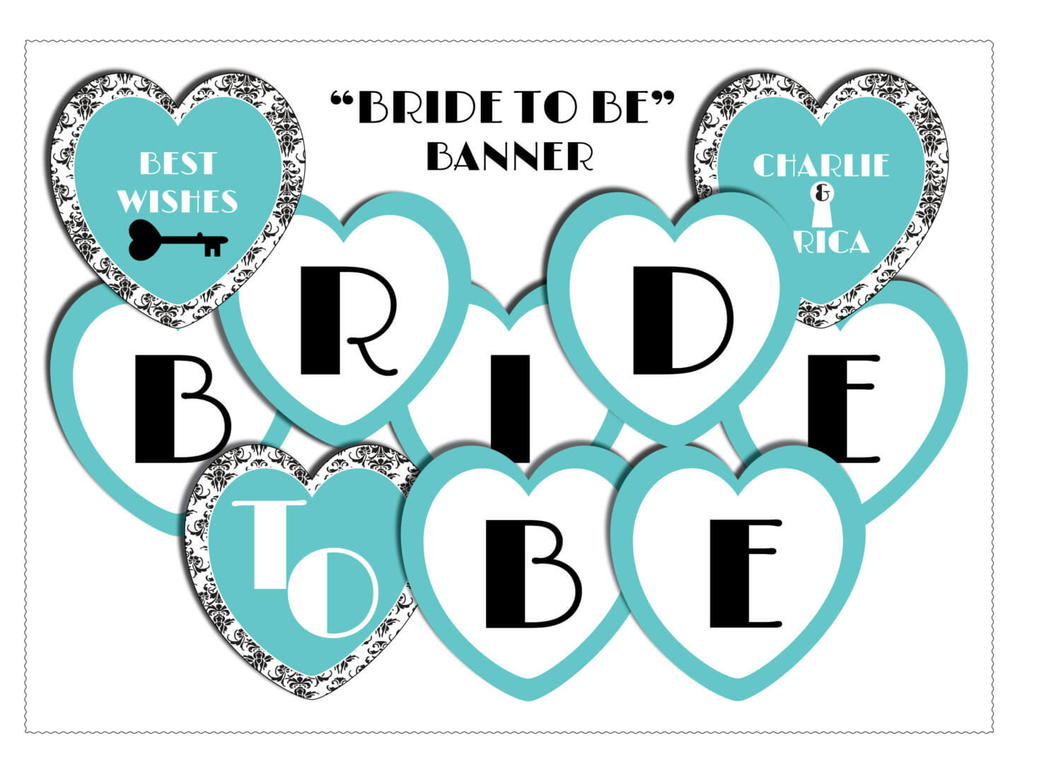 11 Best Photos Of Bride To Be Banner Template - Diy Bridal Regarding Bridal Shower Banner Template