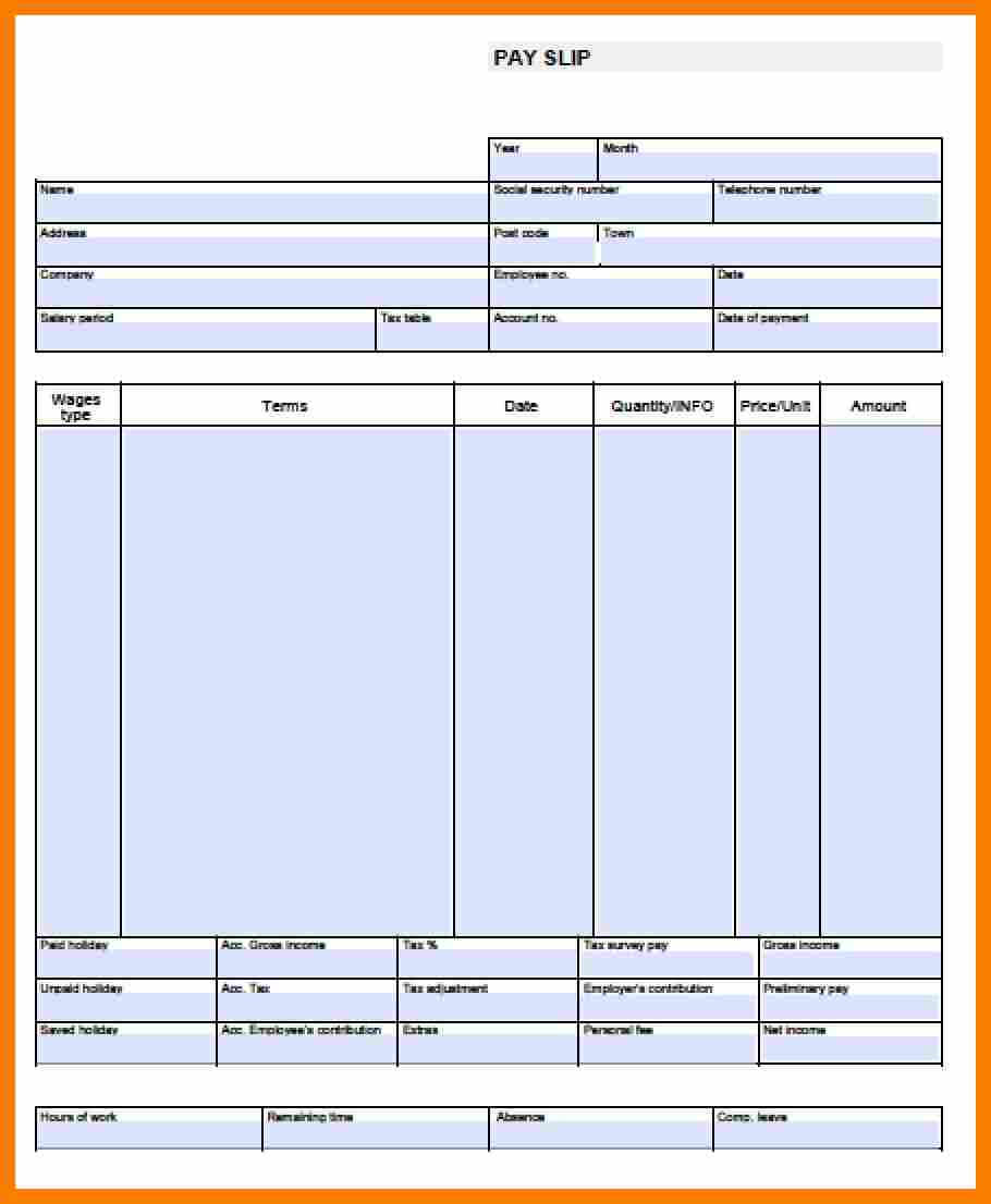 11+ Free Pay Stub Template Microsoft Word   Shrewd Investment Throughout Blank Pay Stub Template Word