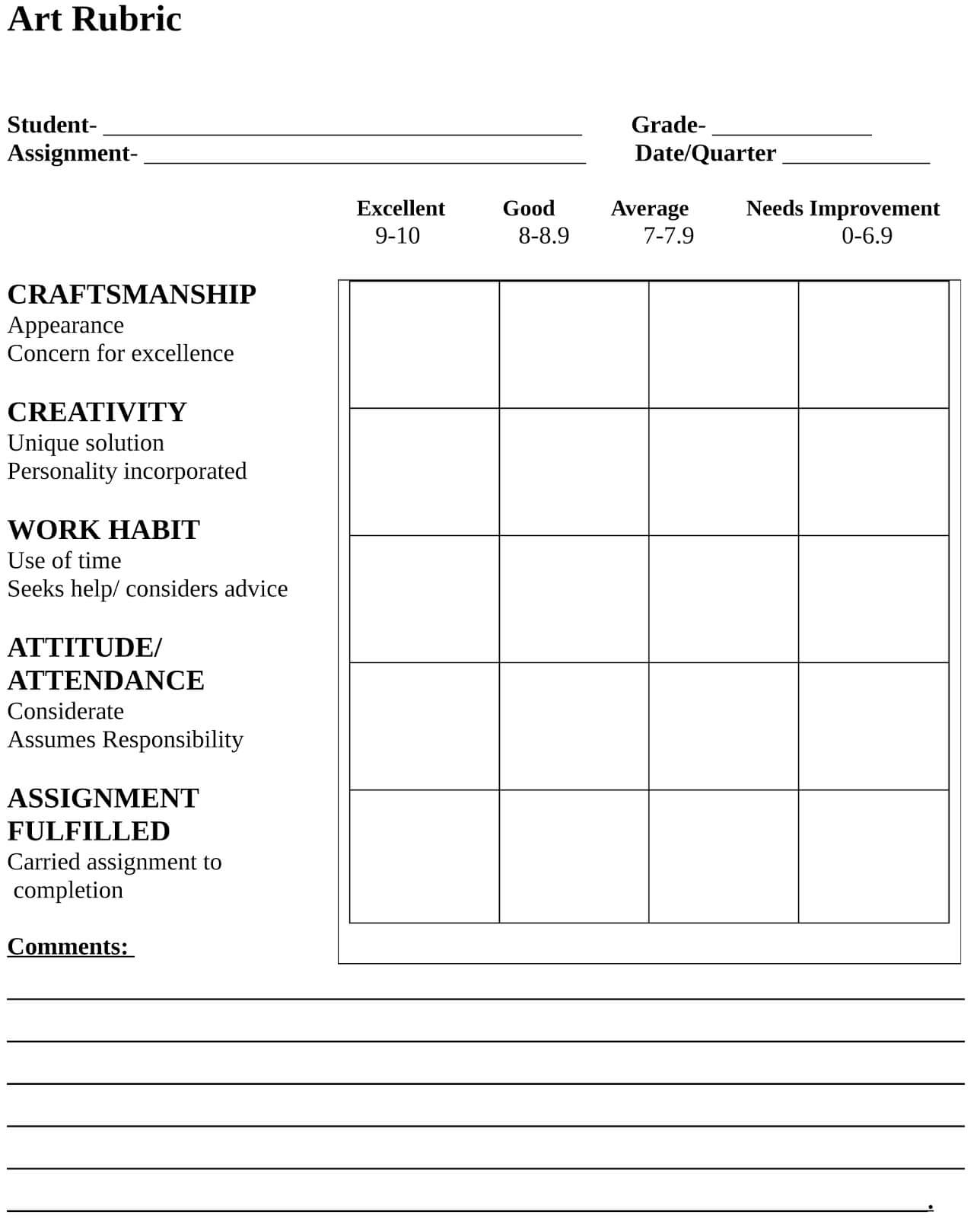 11 Images Of Humanities Rubric Template | Fodderchopper With Regard To Blank Rubric Template