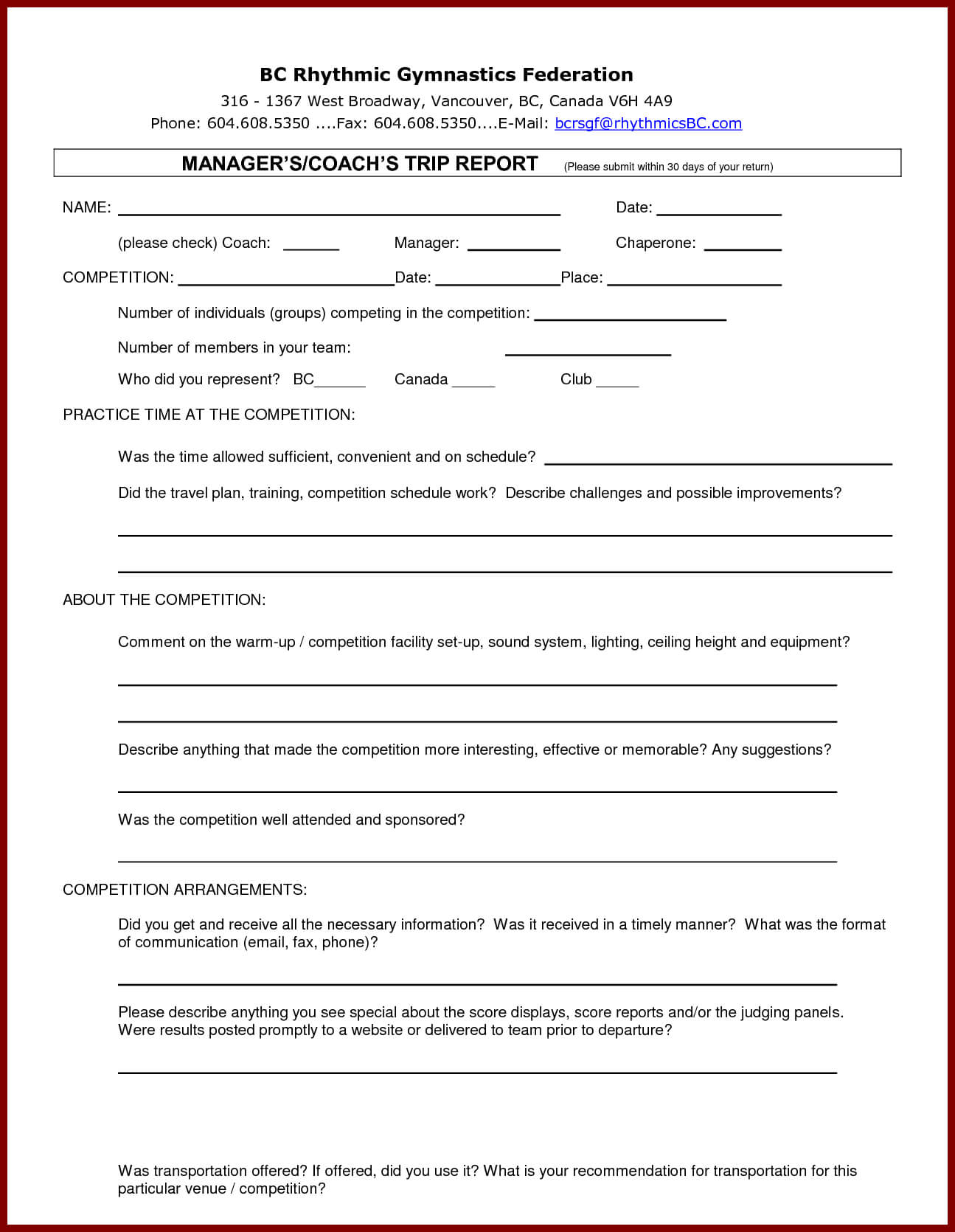 13 + Business Trip Report Examples – Pdf, Word, Apple Pages With Customer Visit Report Template Free Download