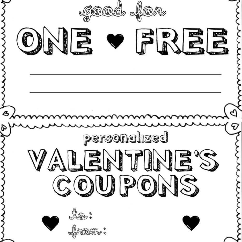 15 Sets Of Free Printable Love Coupons And Templates In Love Coupon Template For Word
